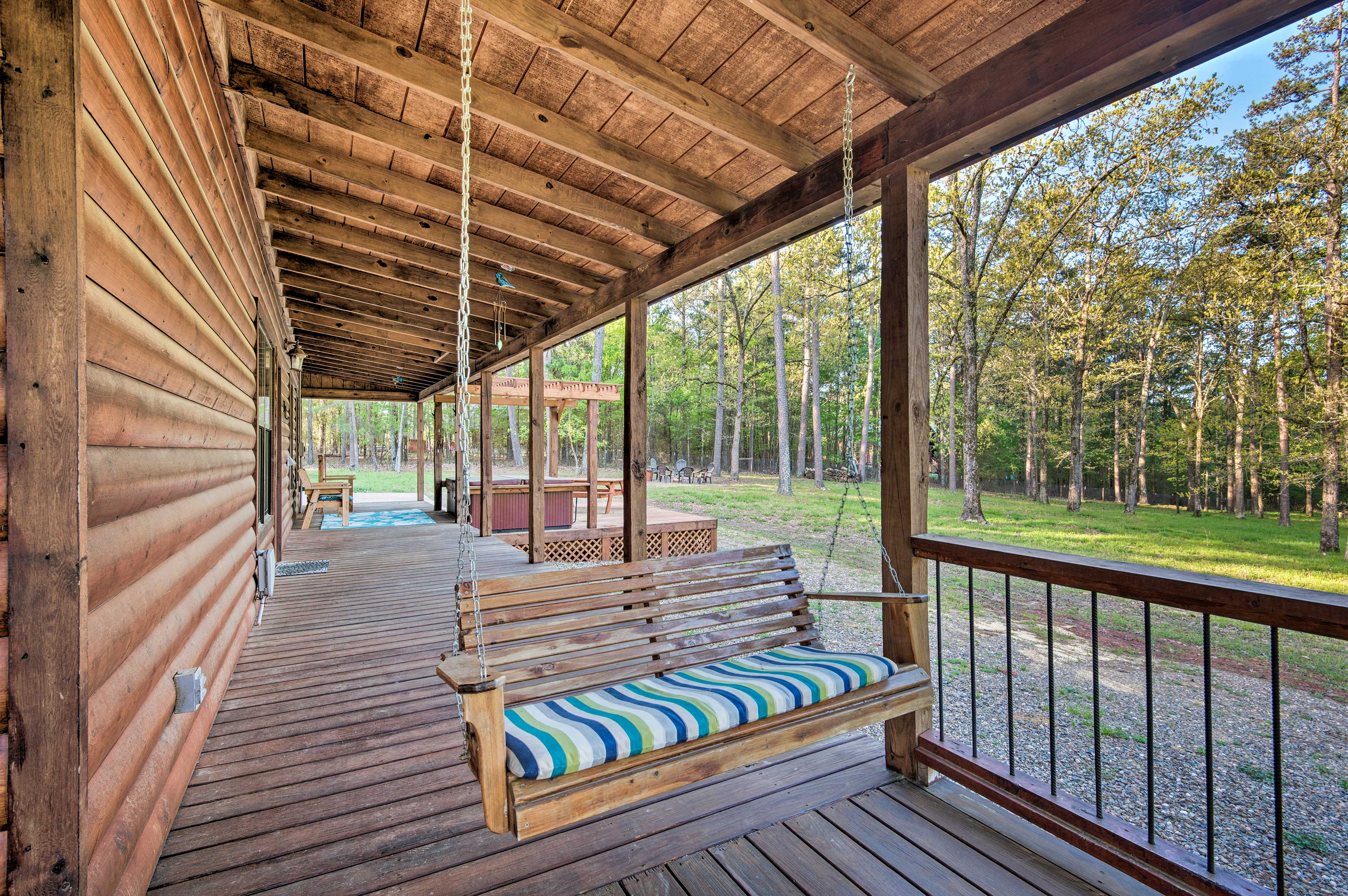 Sip sweet tea while swaying on the porch swing.