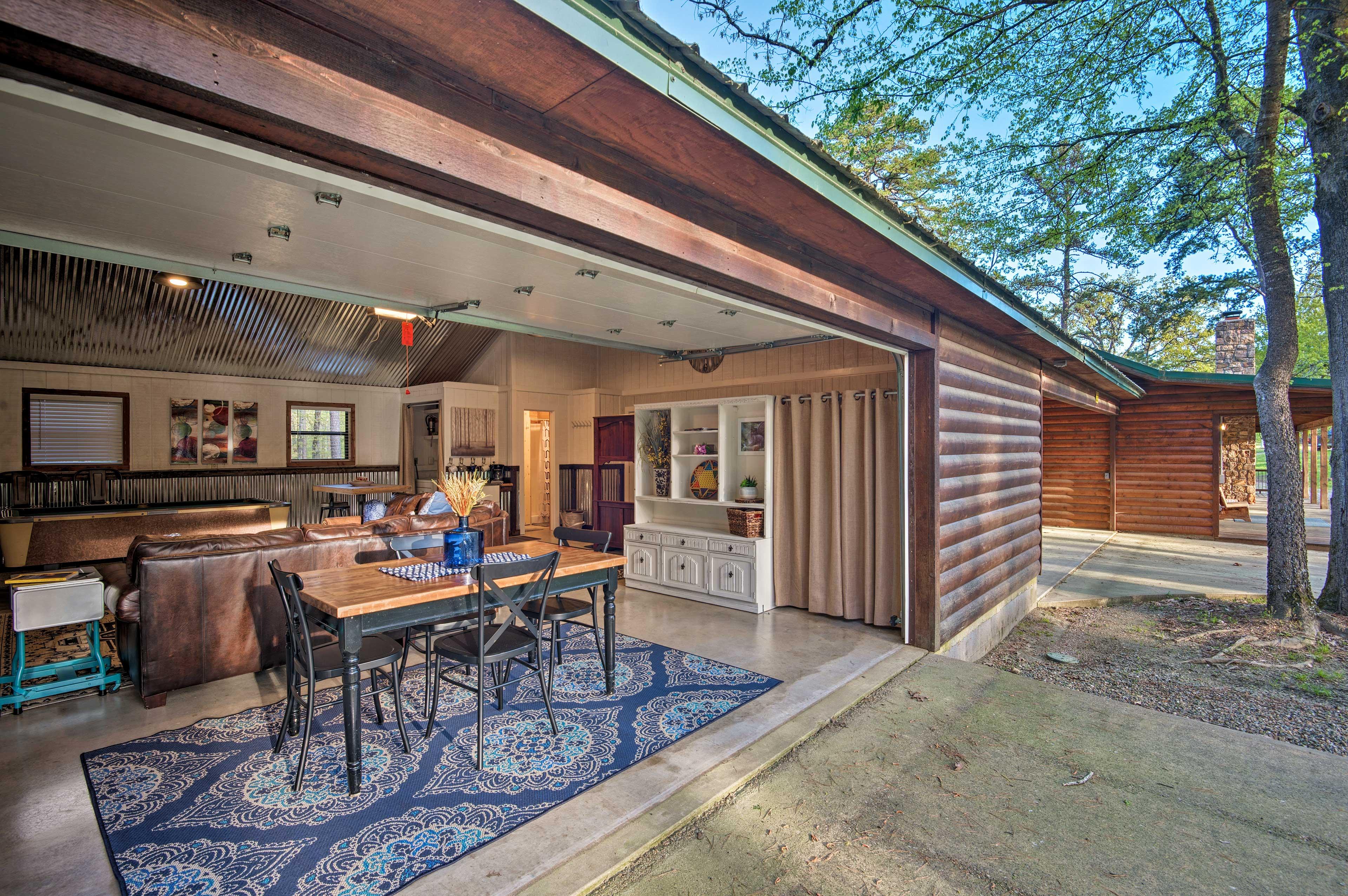 Throw open the garage door to let the fresh air in!