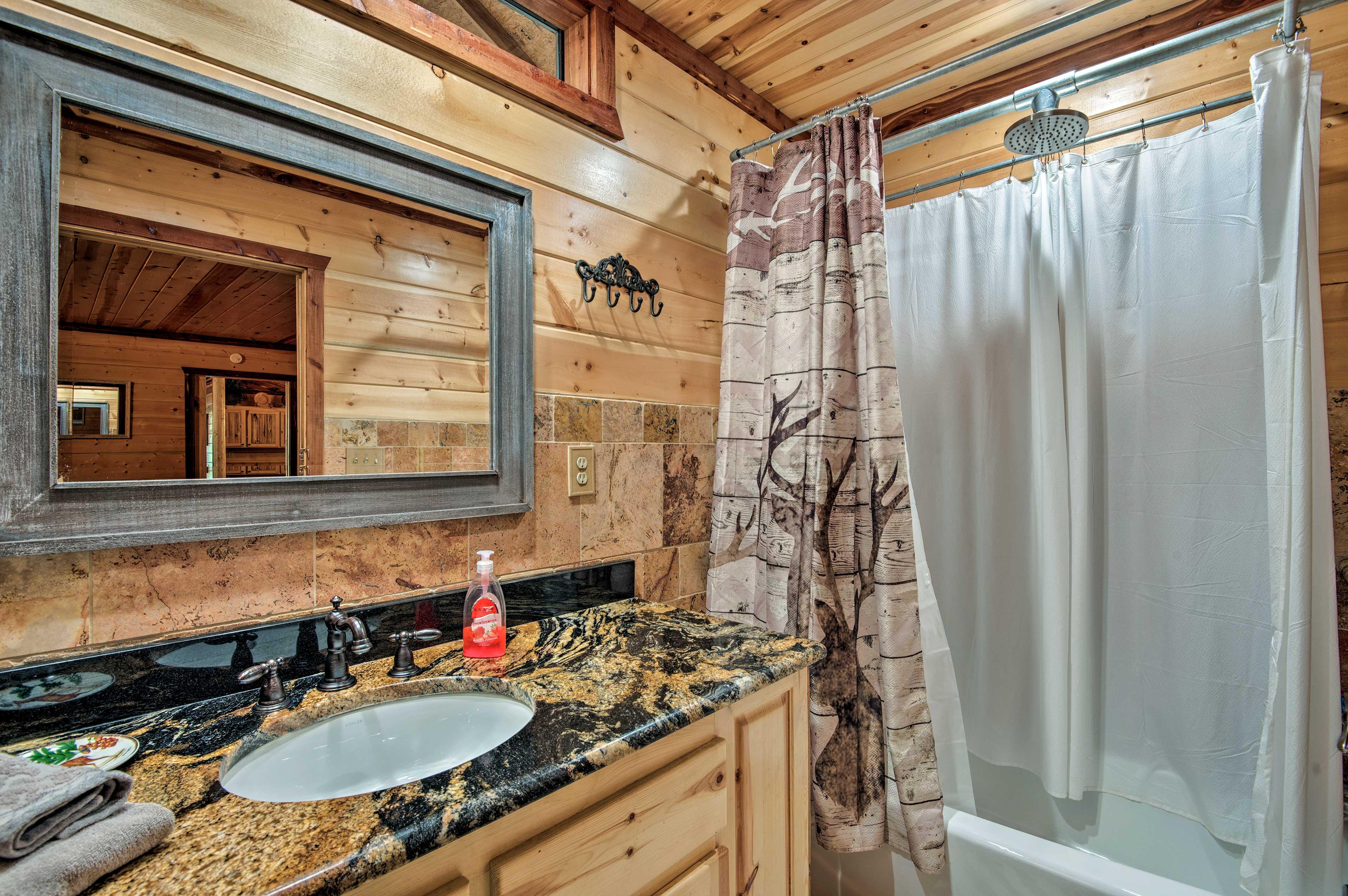 Enjoy the privacy of the en-suite bathroom.