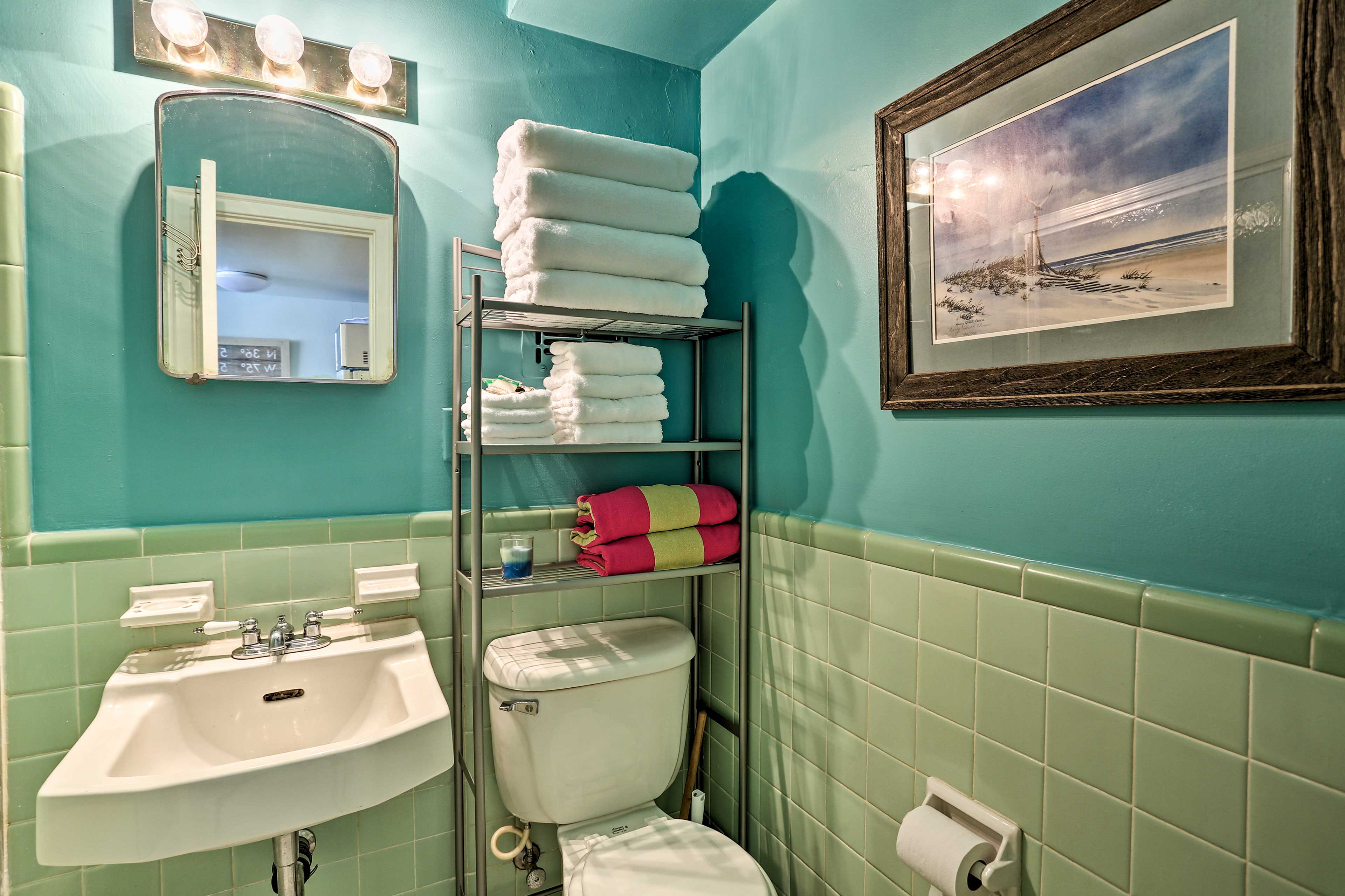 Find fresh towels awaiting your arrival.