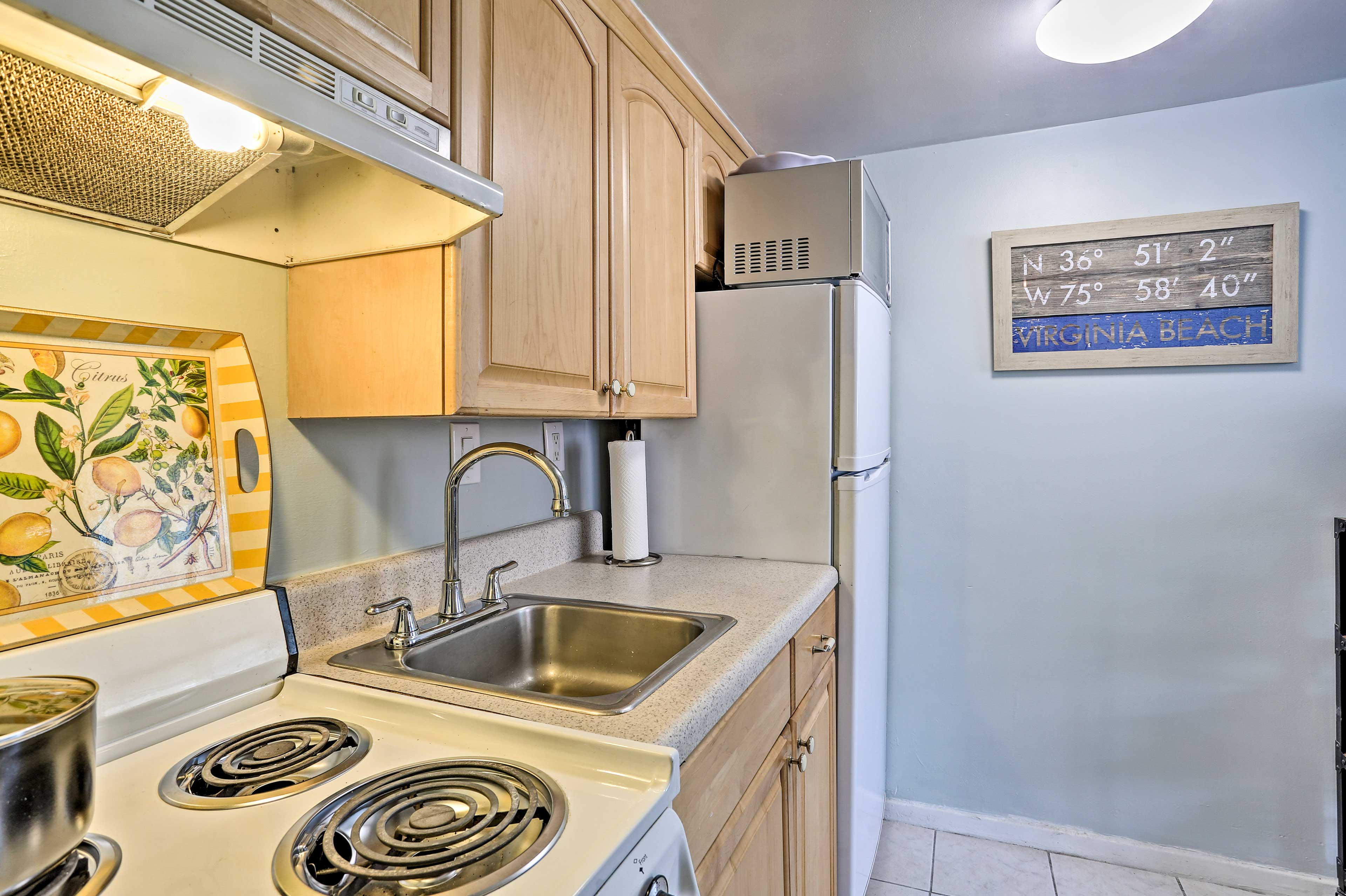 Keep appetites satisfied with a well-equipped kitchen.