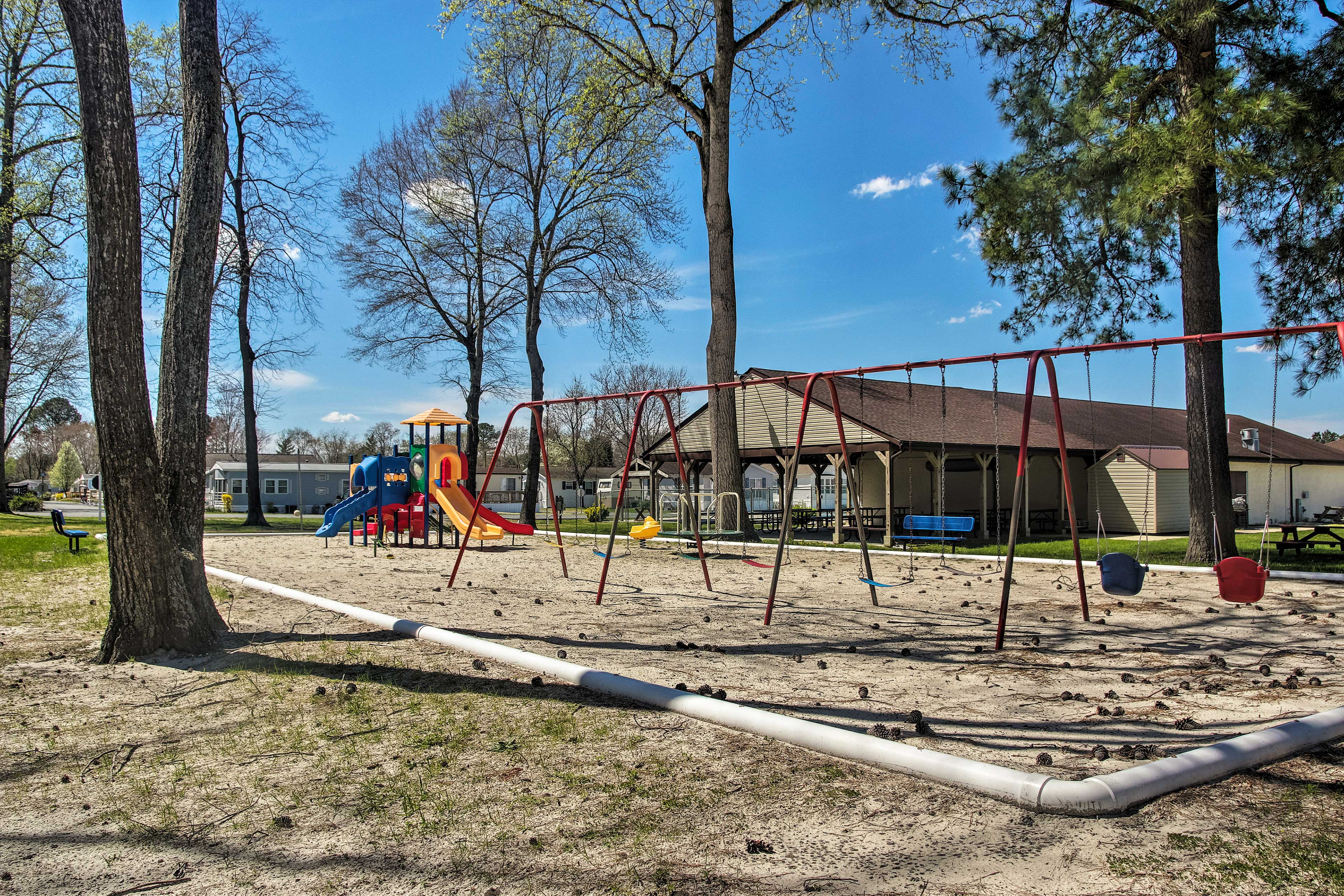 Spend afternoons at the playground and picnic area!