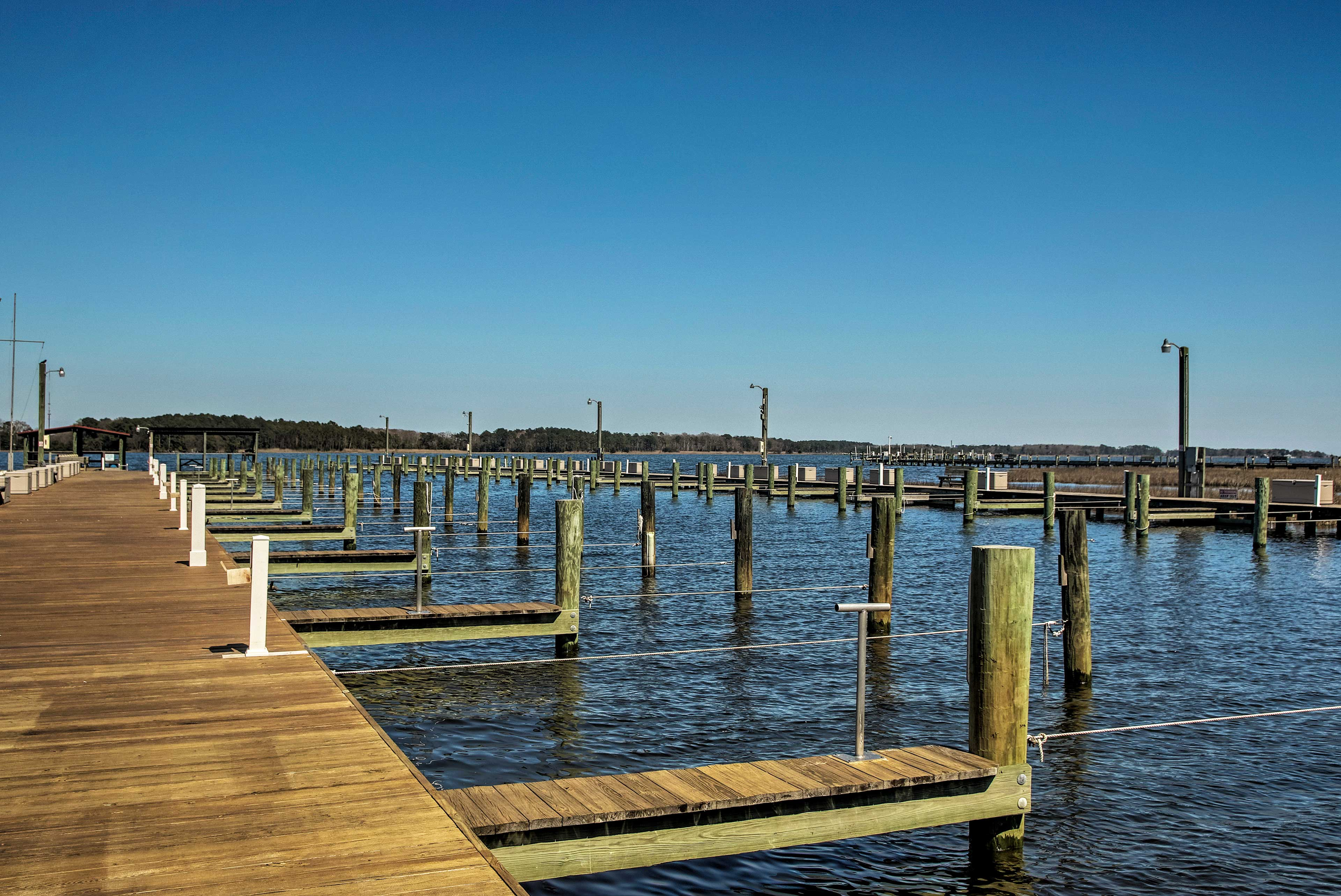 You'll be a short walk or bike ride from the community boat launch.