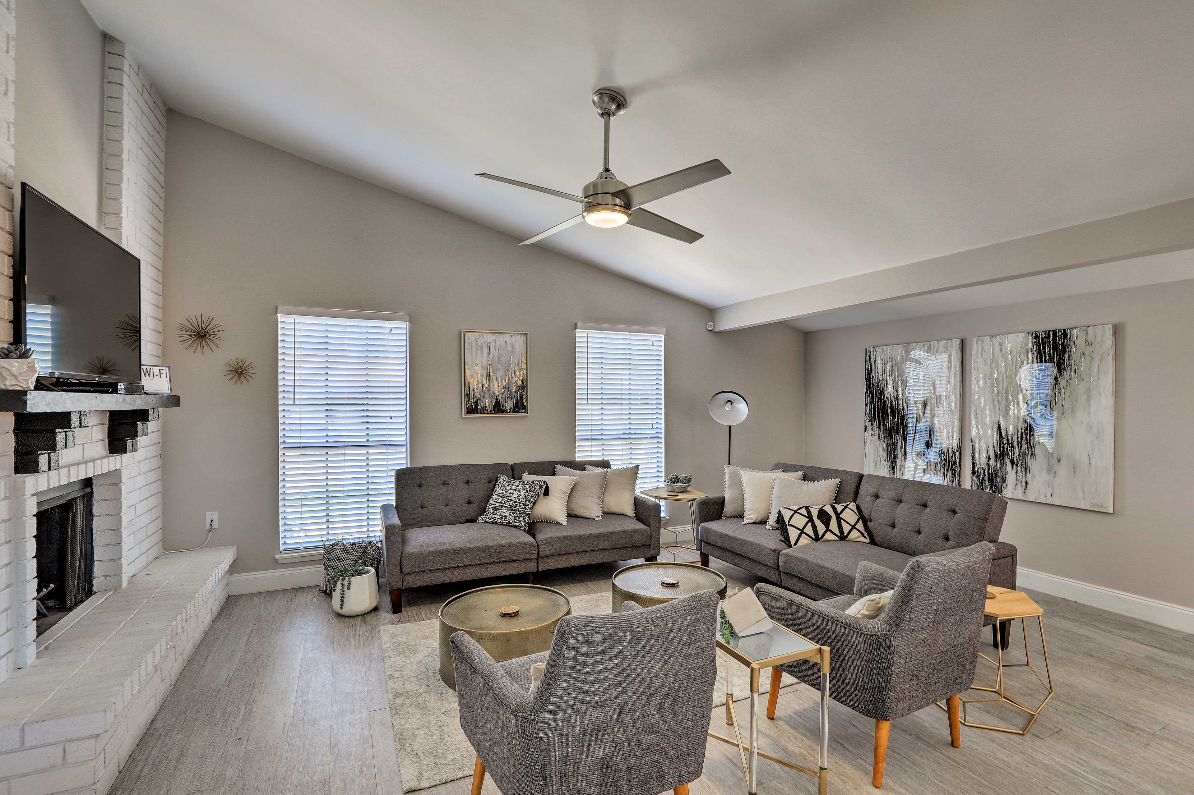Inside, you will be greeted by vaulted ceilings making for an airy feeling.