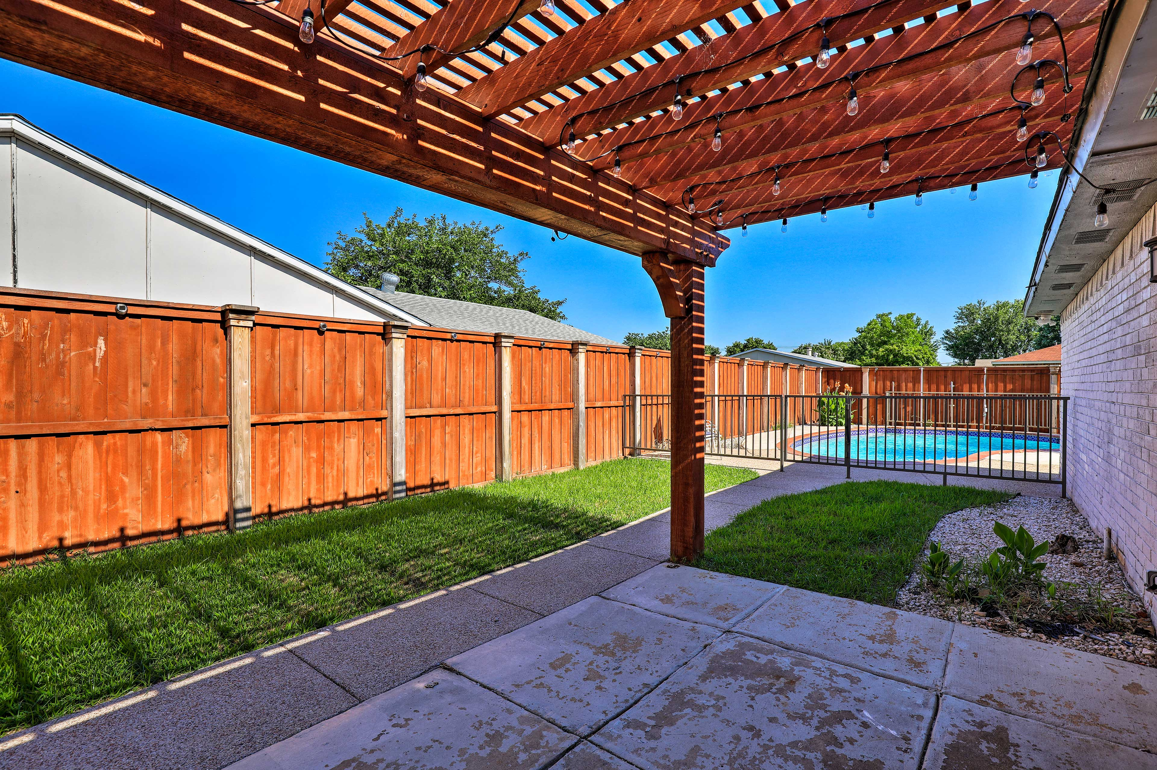 Step out into your private backyard.