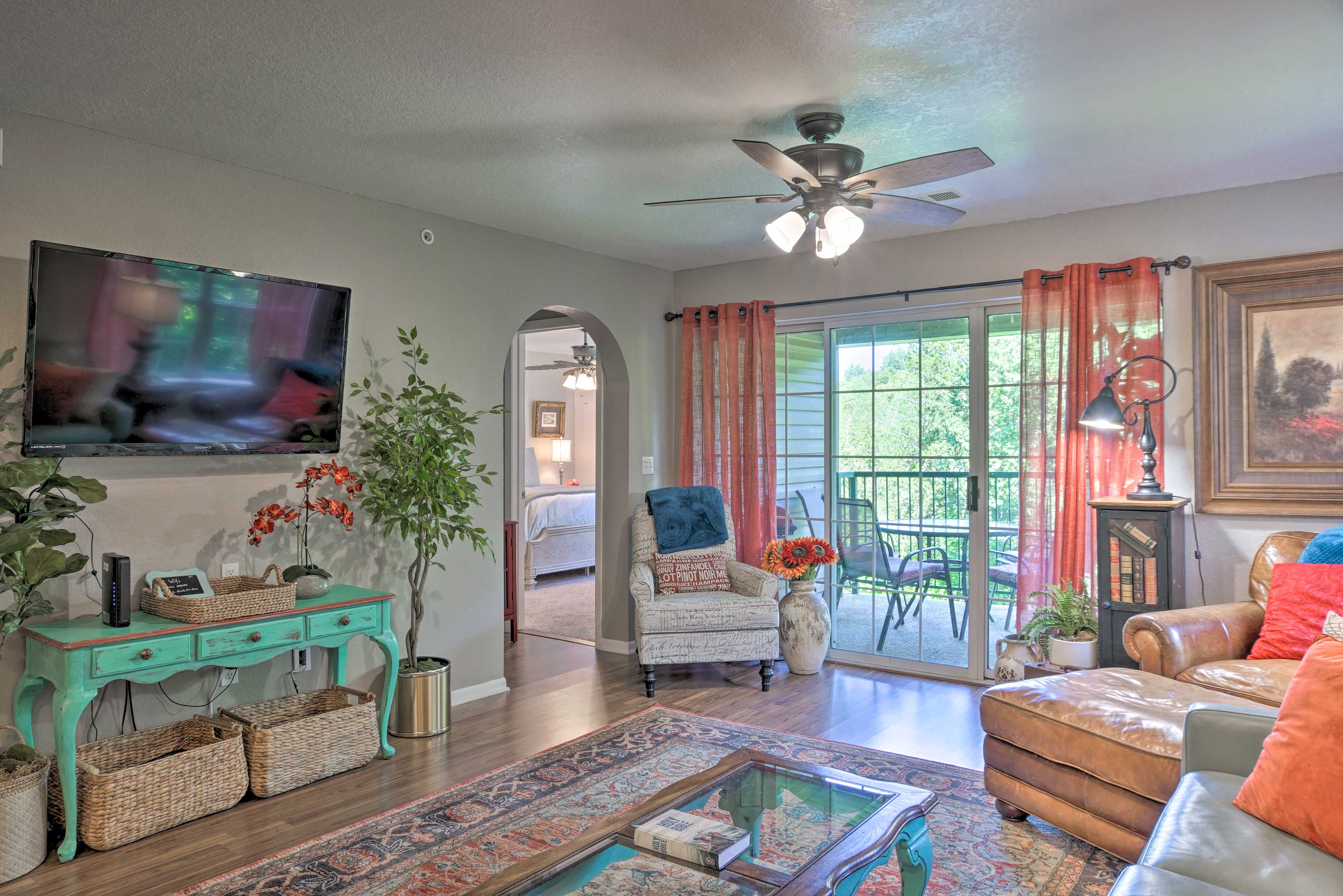 Book a trip to this lavish 2-bedroom, 2-bathroom vacation rental condo.