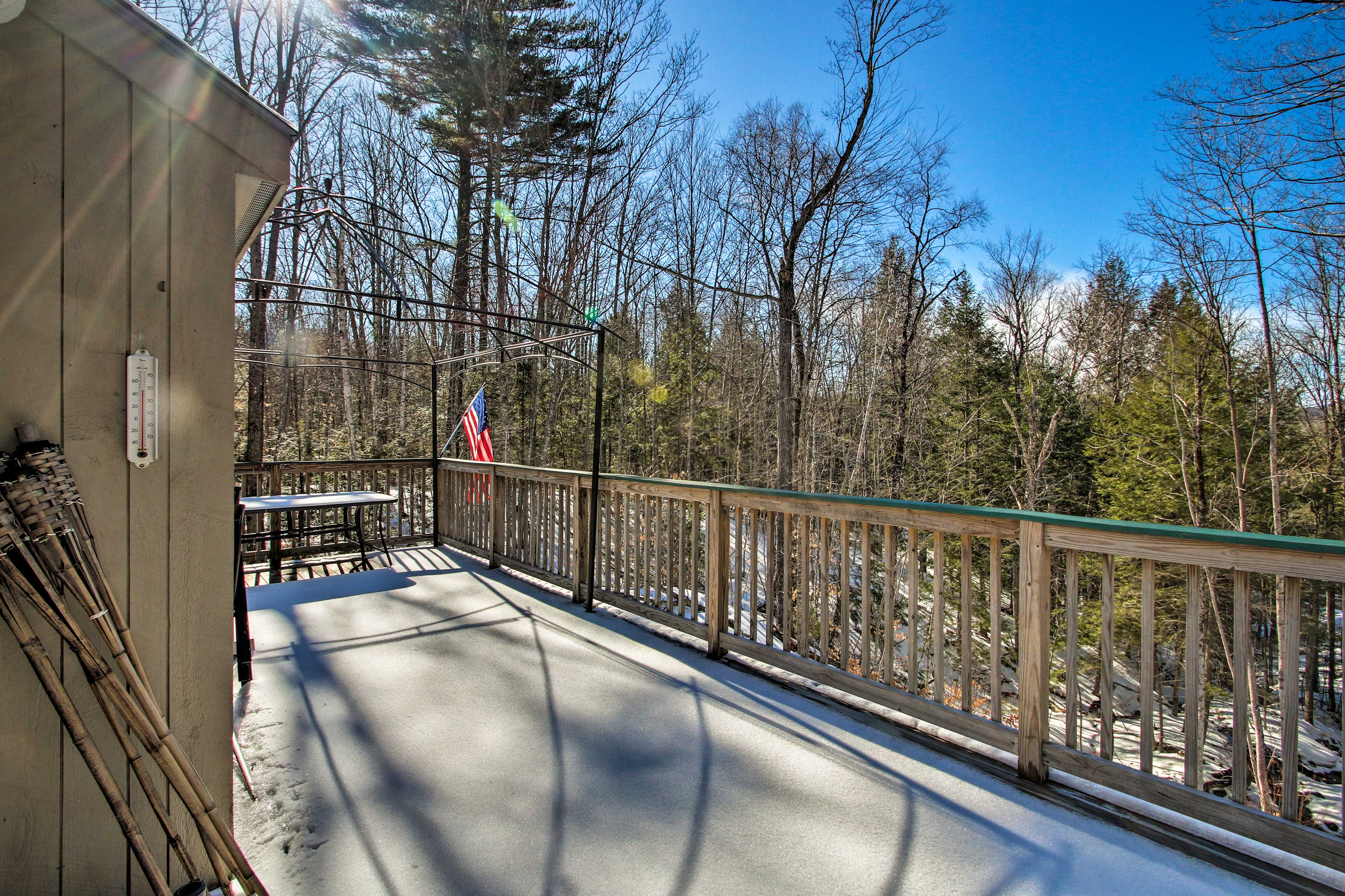 Listen to the peaceful sounds of the stream from the deck!