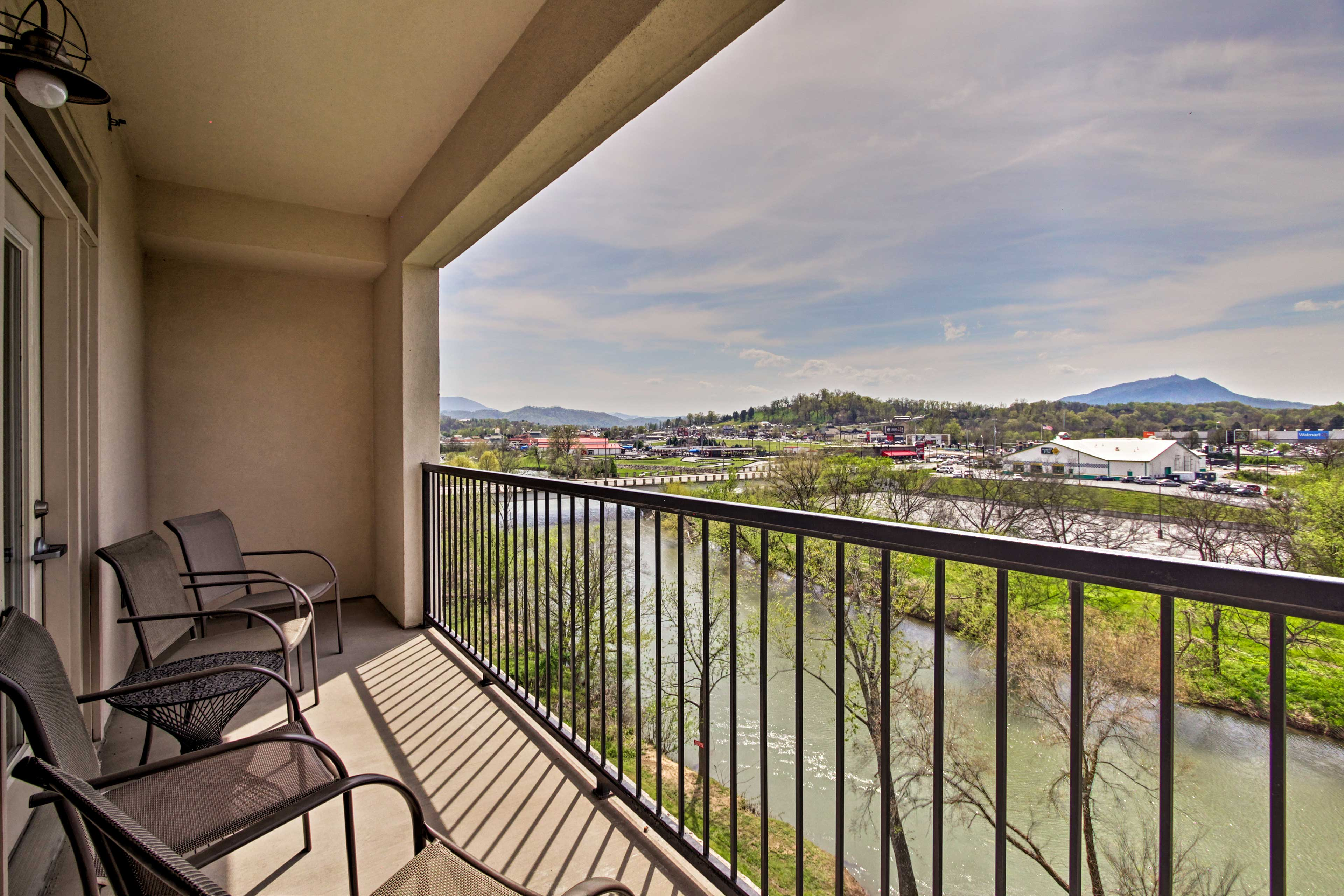 Private Balcony | Little Pigeon River Views