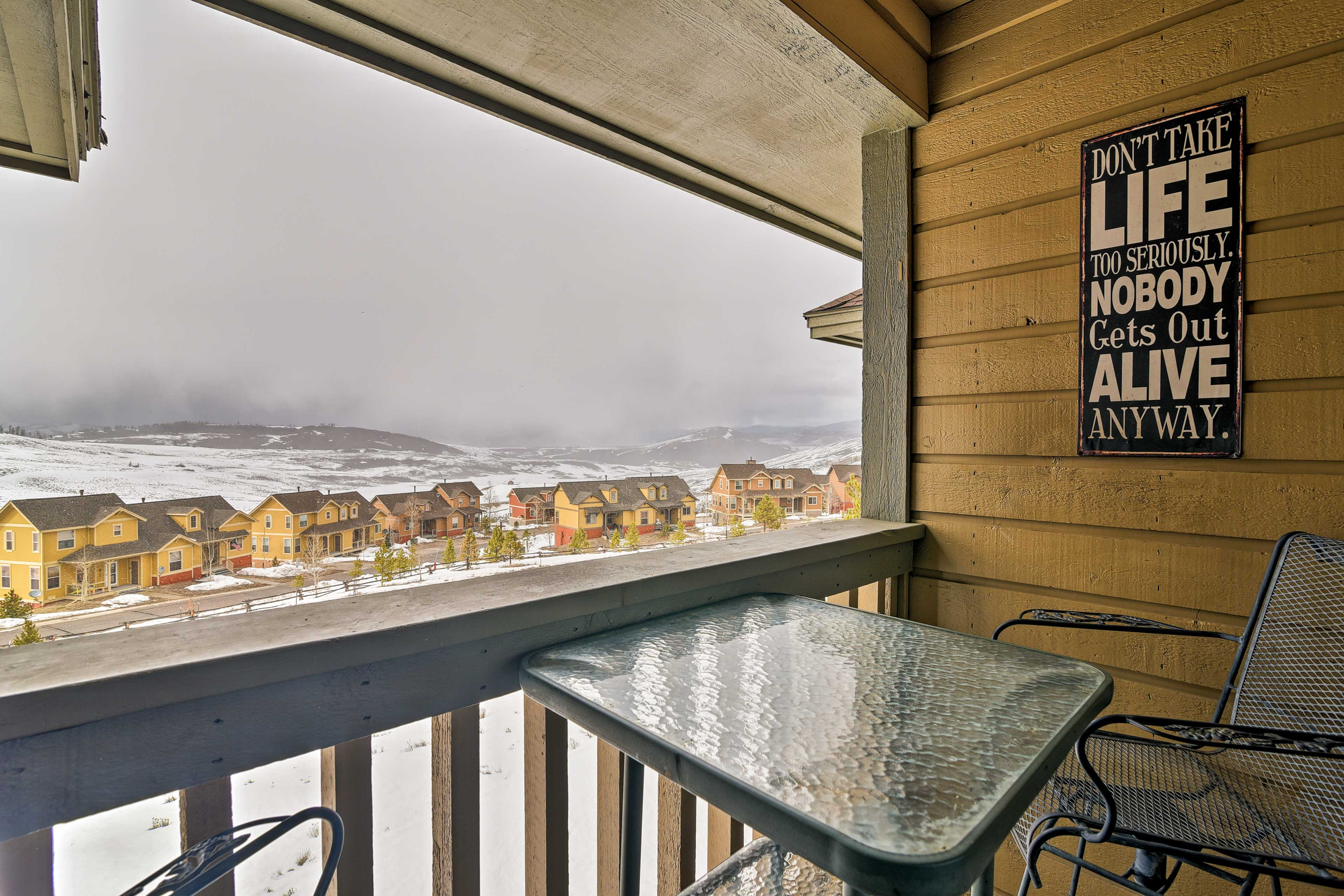 Look out over mountain and golf course views from your private balcony!