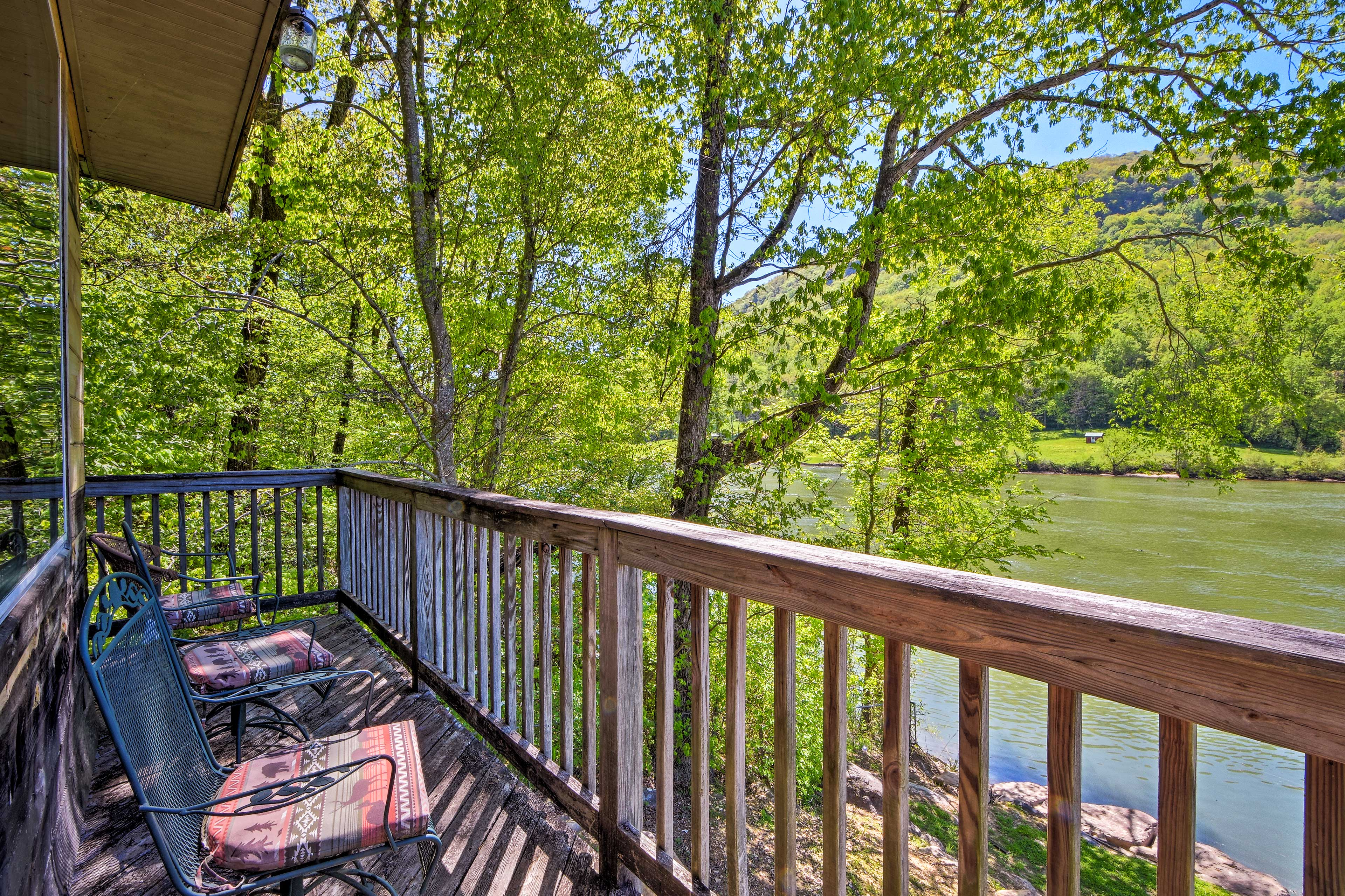 Soak up the incredible river views from the exposed deck.