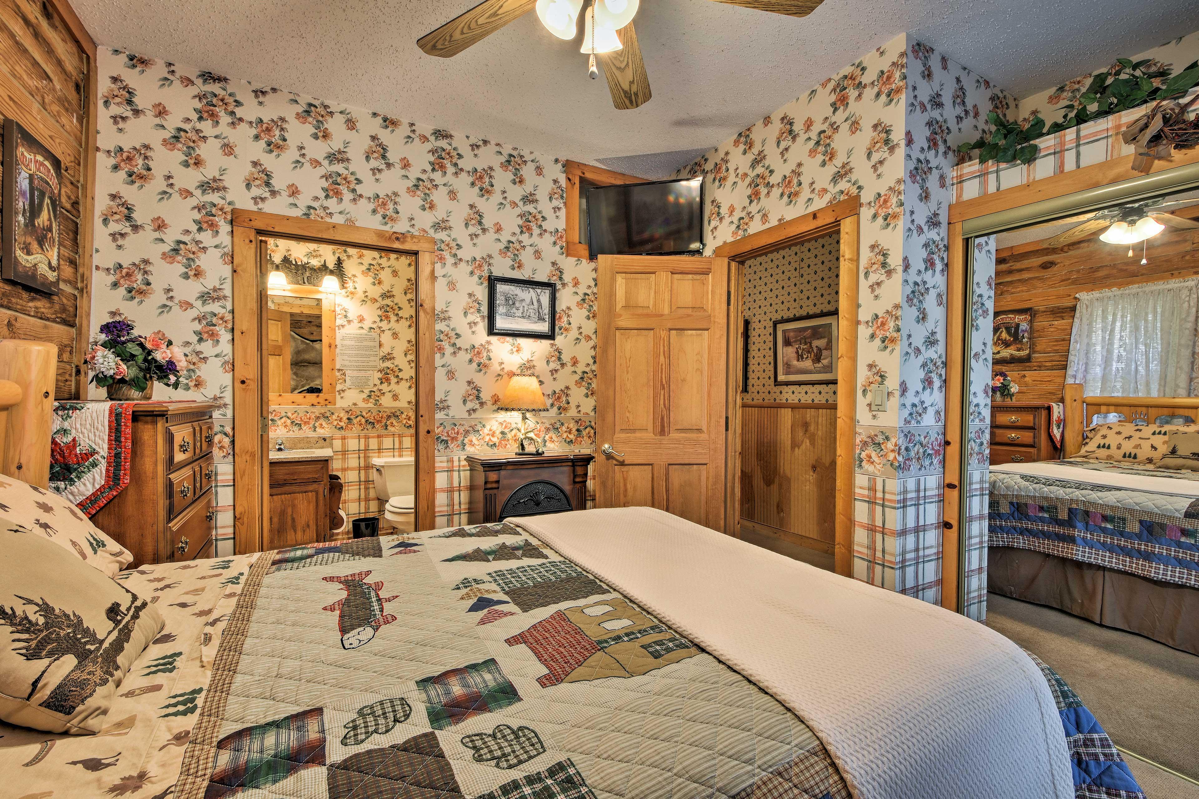 Enjoy privacy in this bedroom's en-suite bathroom!