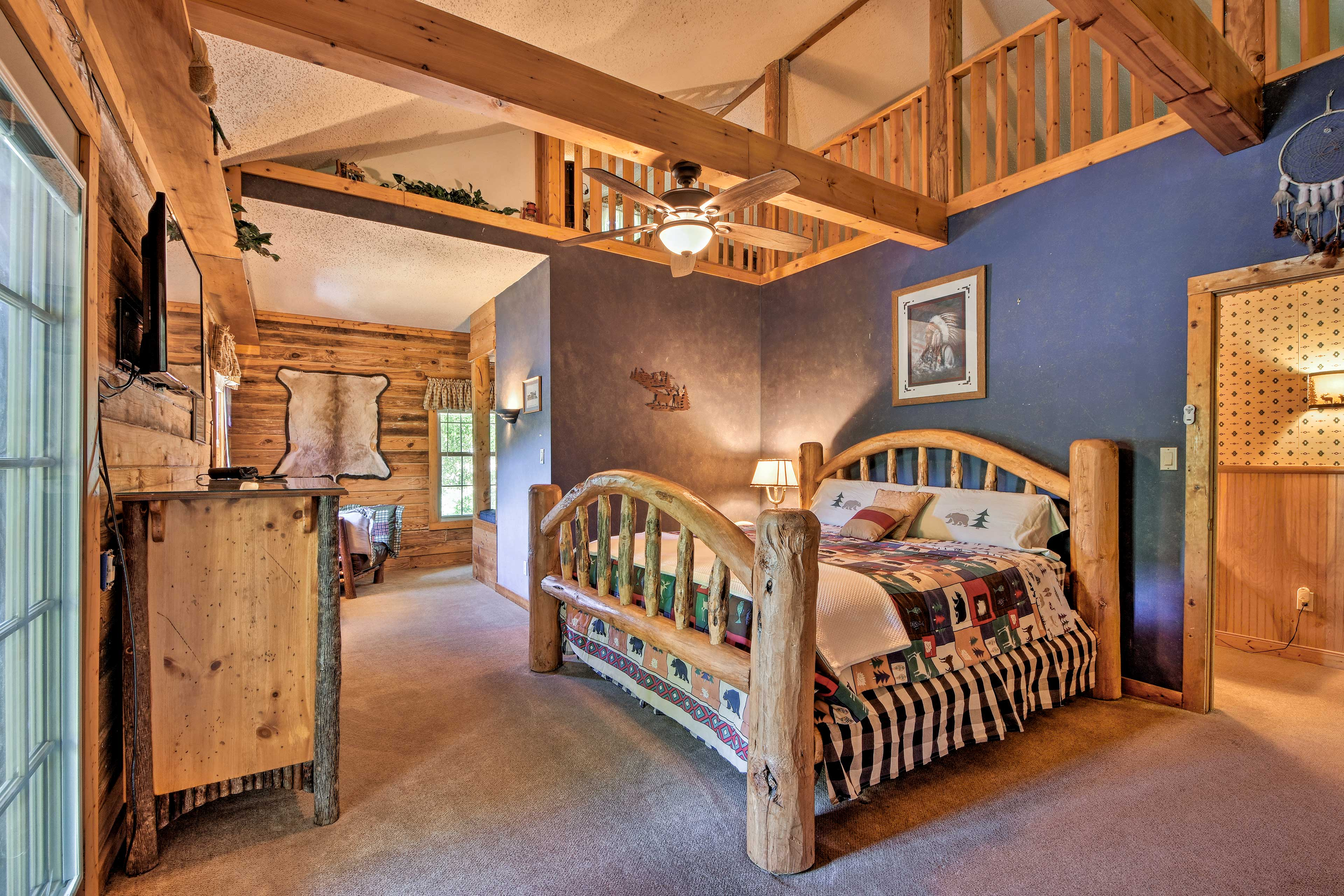 The head of the house hold is sure to love this epic master bedroom.
