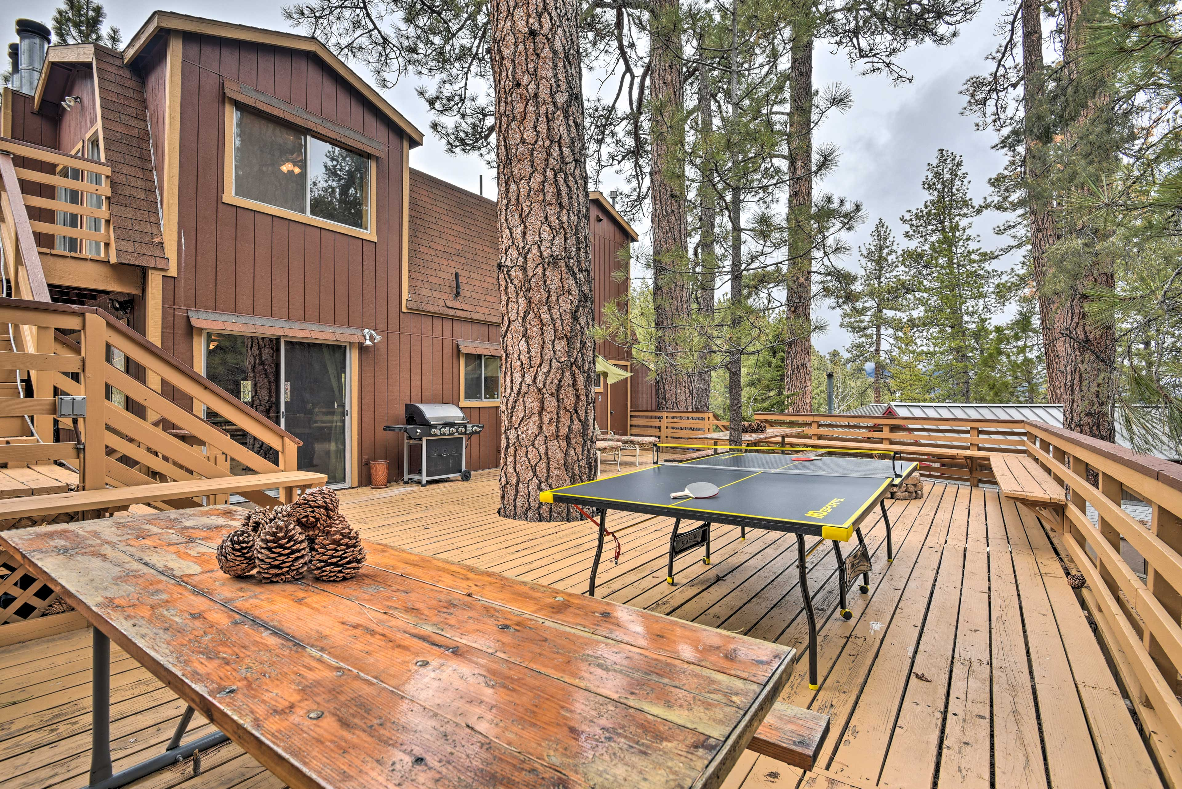 Book a trip to this lavish 4-bedroom, 2-bathroom vacation rental cottage.