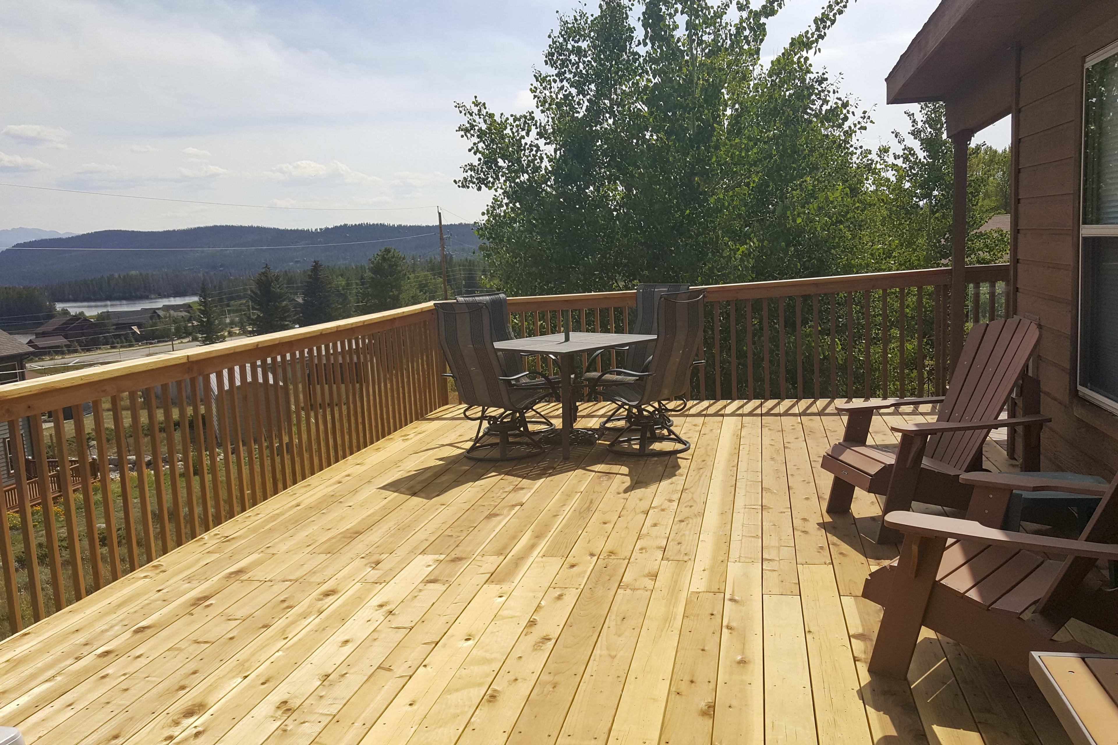 The newly renovated deck is sure to impress!