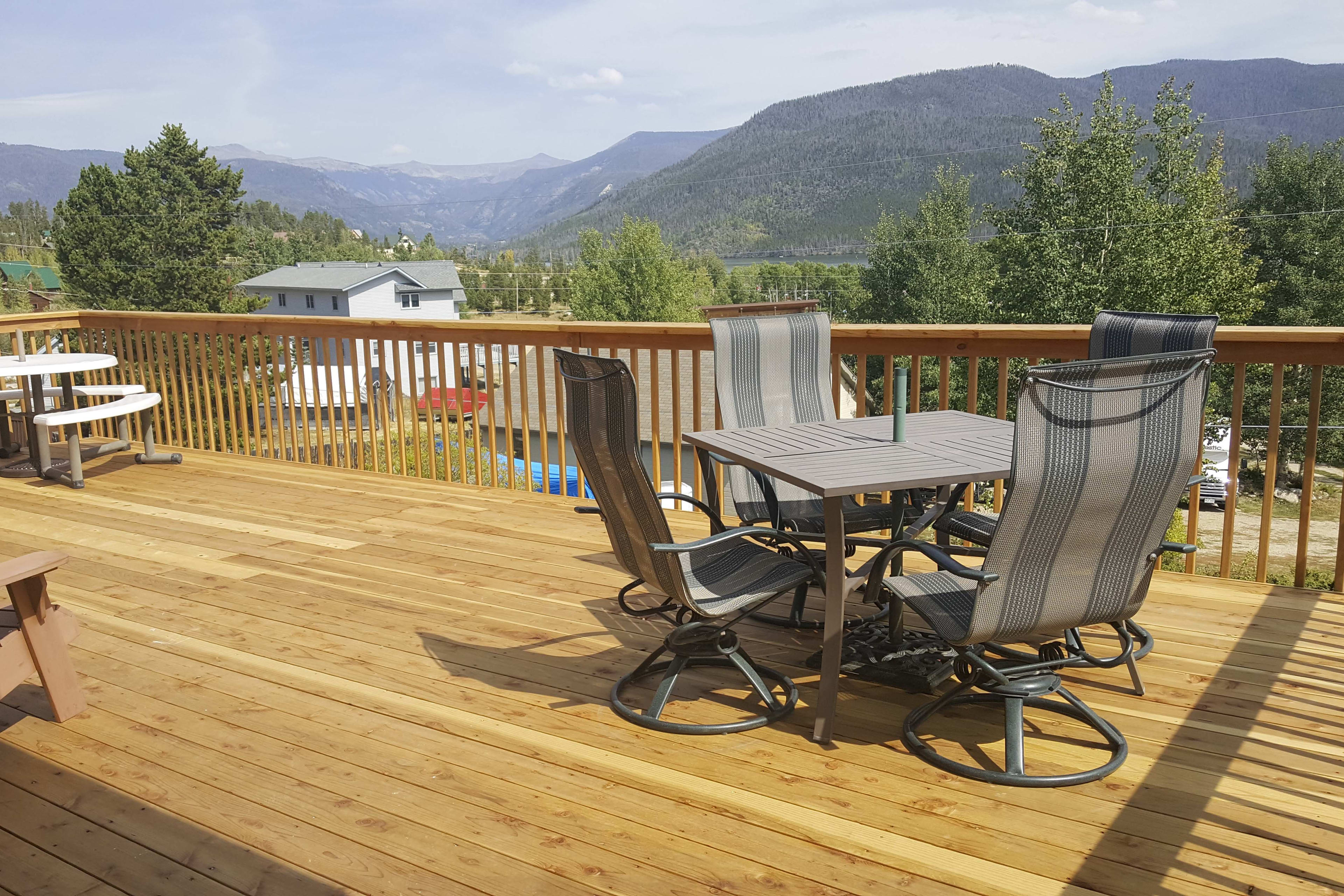 Enjoy stunning views from the newly-renovated deck!
