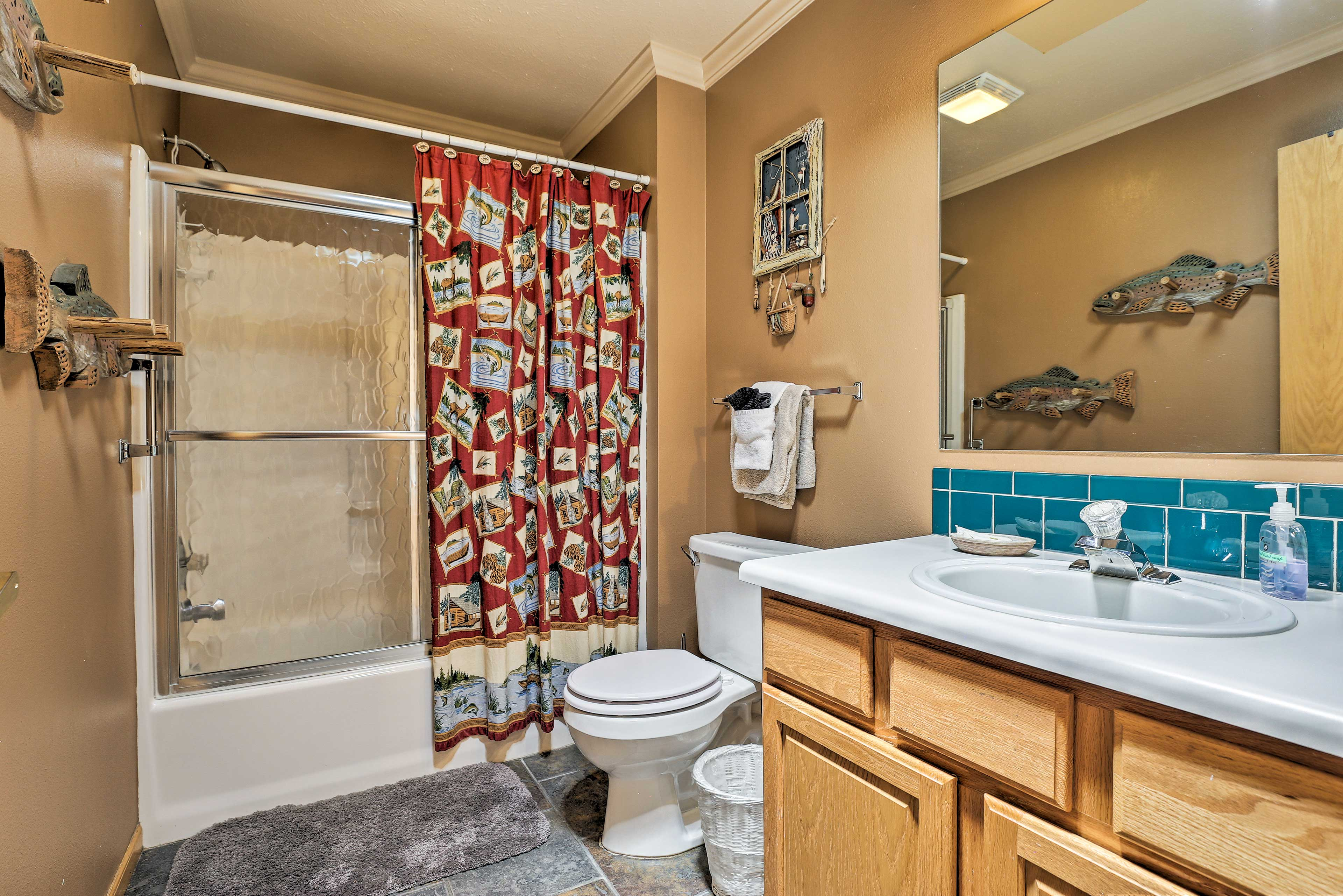 Make mornings easy in the second bathroom.