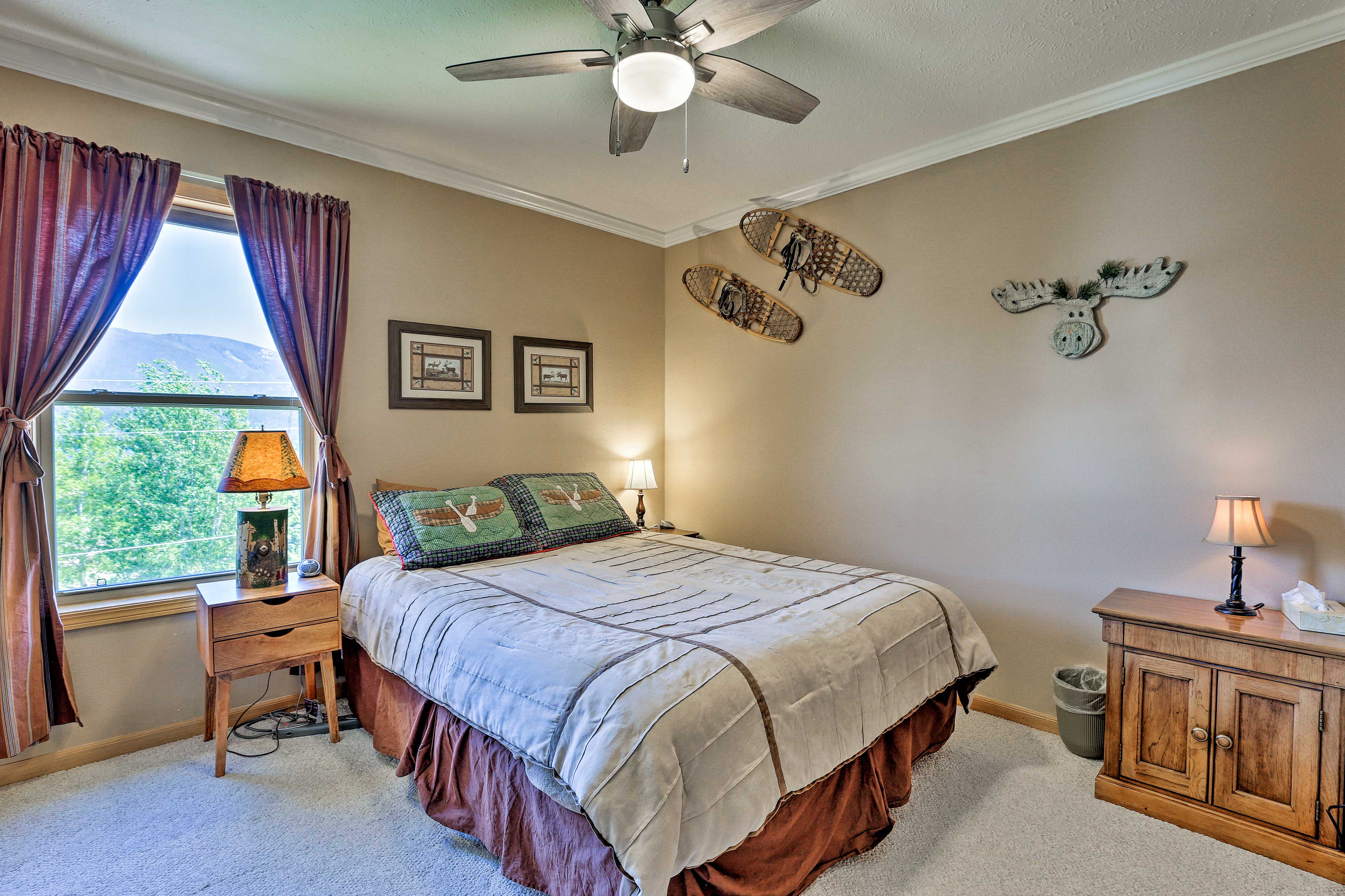 Pick your side of the queen-sized bed in bedroom 2.