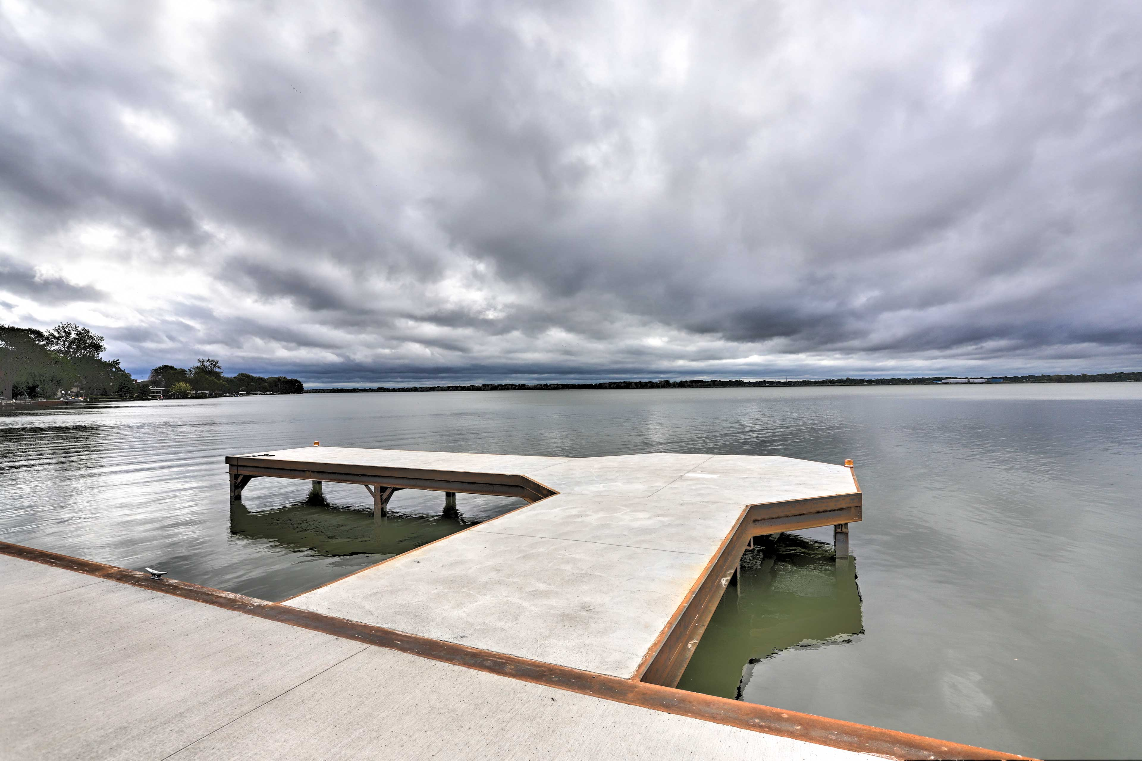 Take advantage of the home's brand new dock!