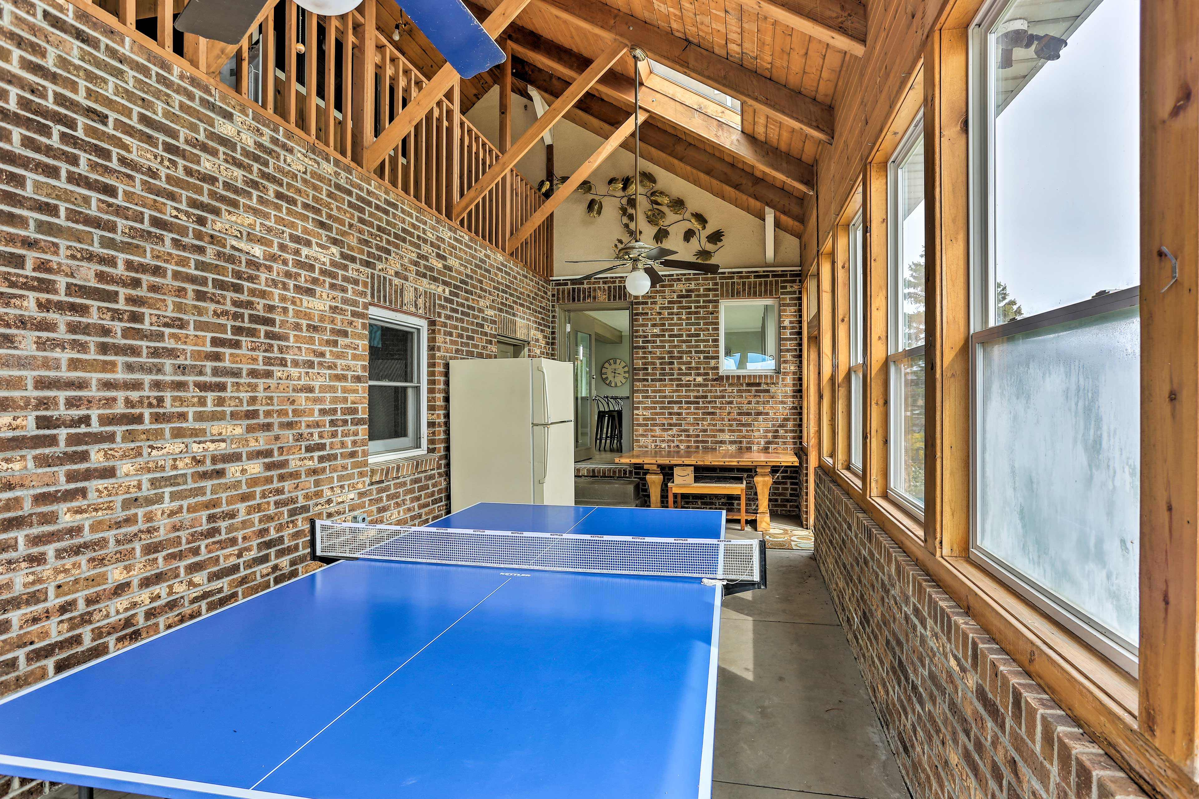 Challenge companions to ping pong games.
