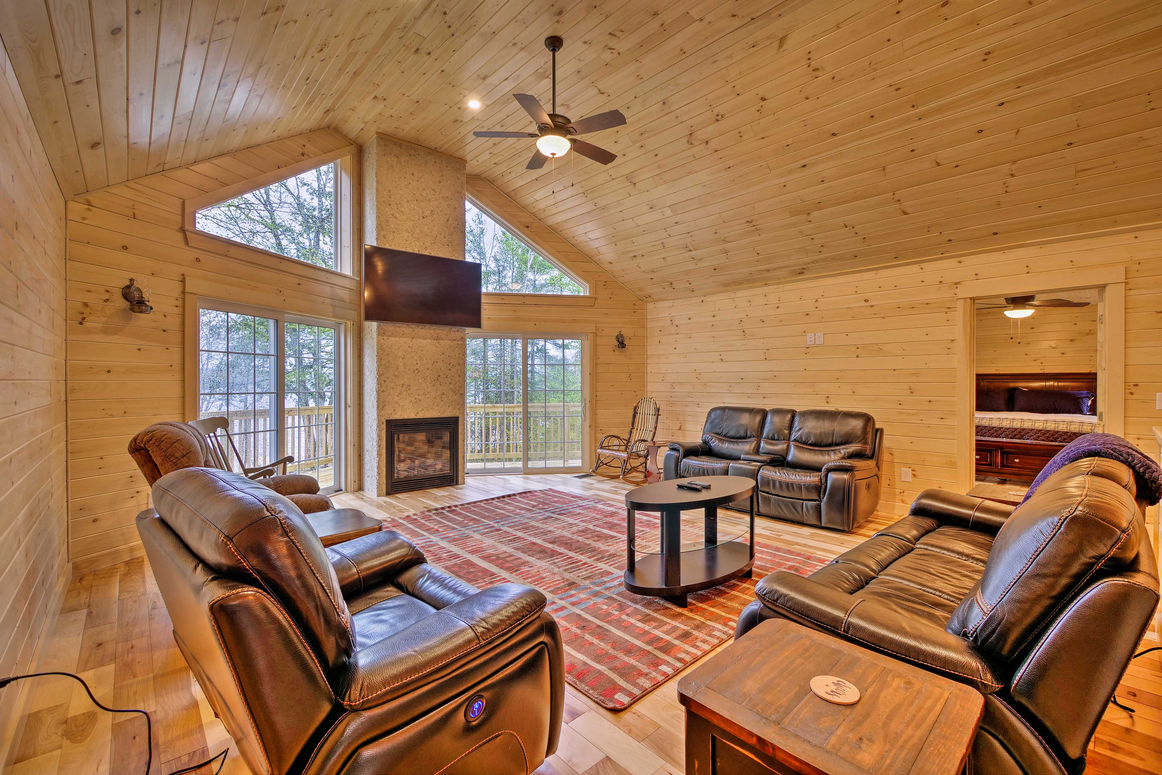 Wow your group with the view from this 3-bedroom, 2-bath vacation rental.