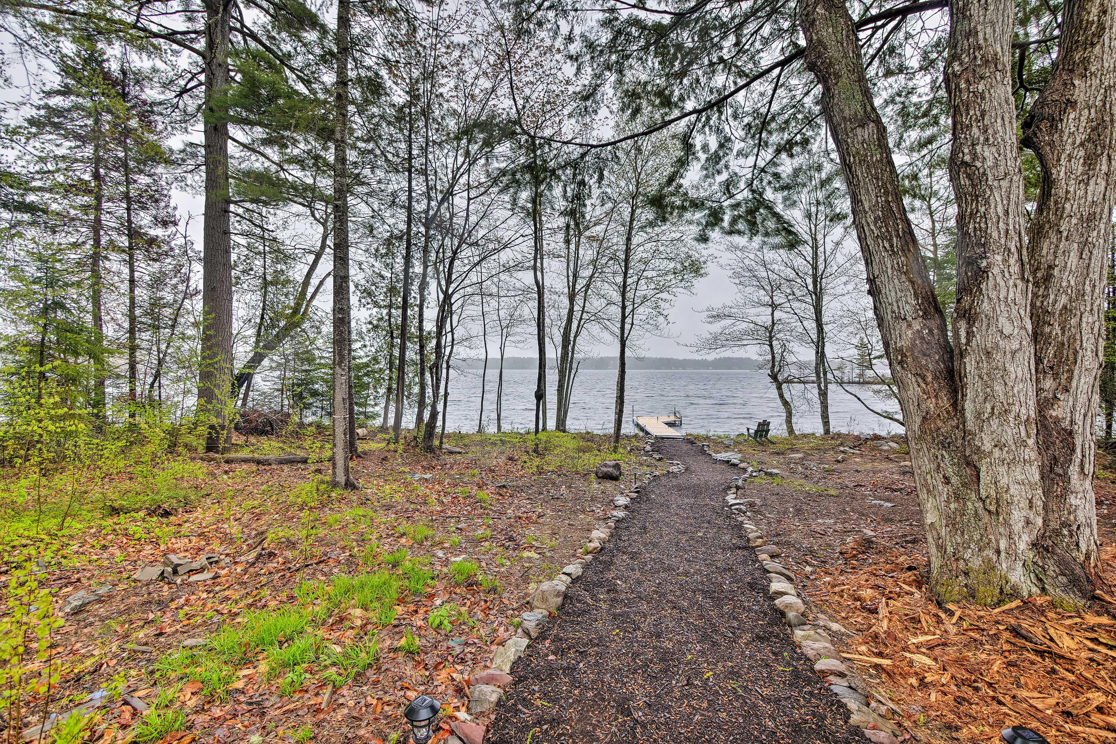 Take a quick walk down to the lake.