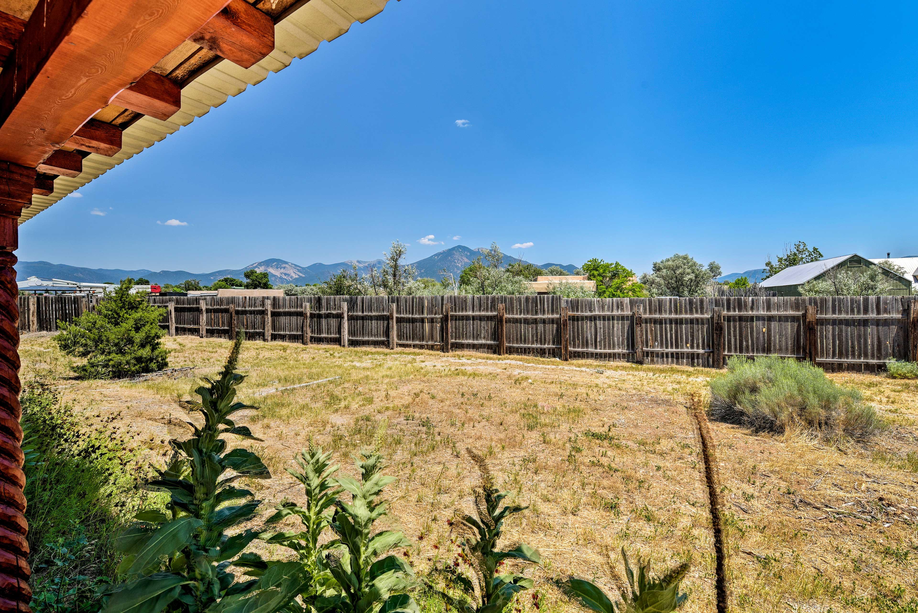 Take in spectacular views of the Taos Mountain Range!