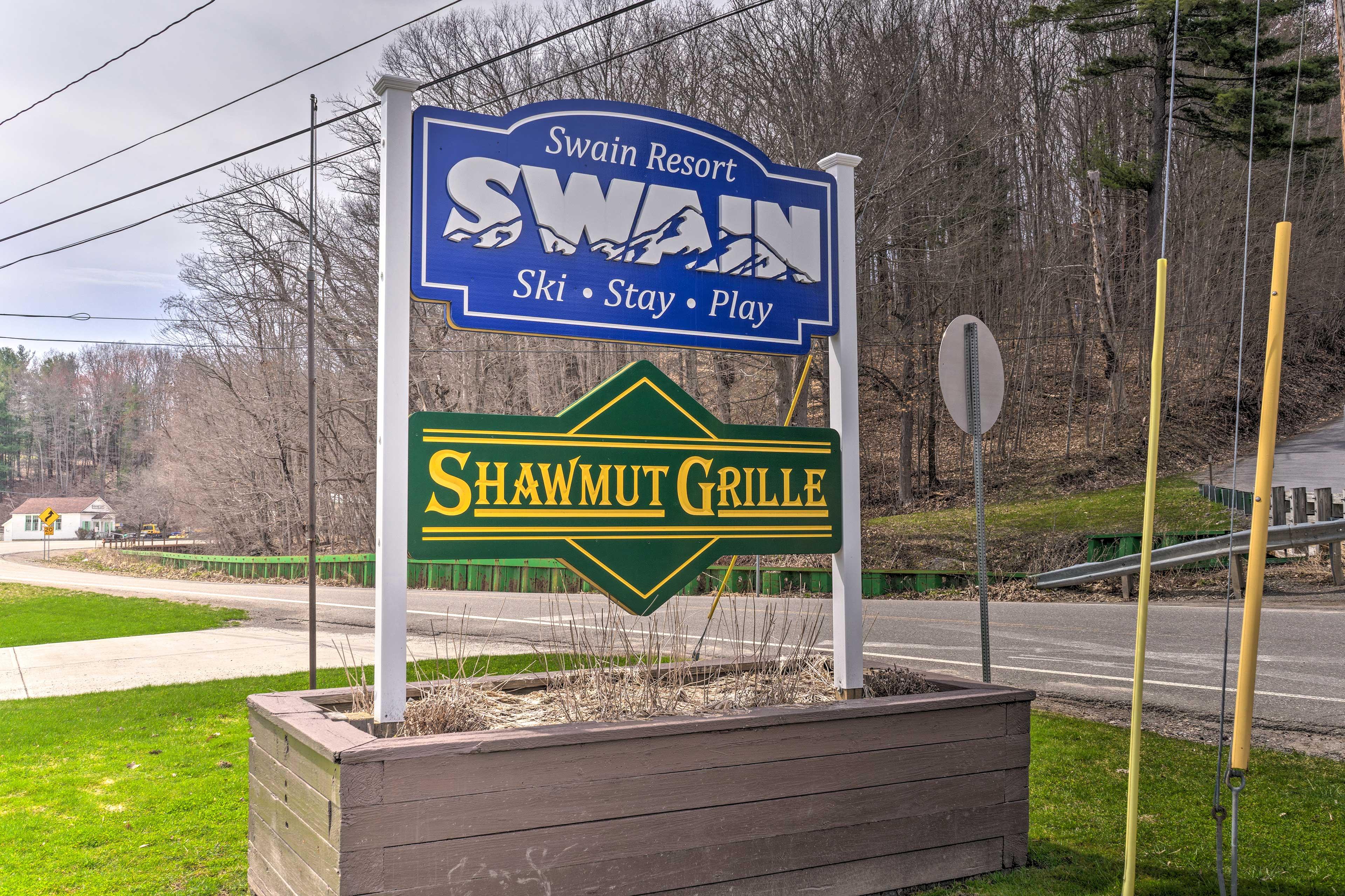 Swain Resort is just under 1 mile away!