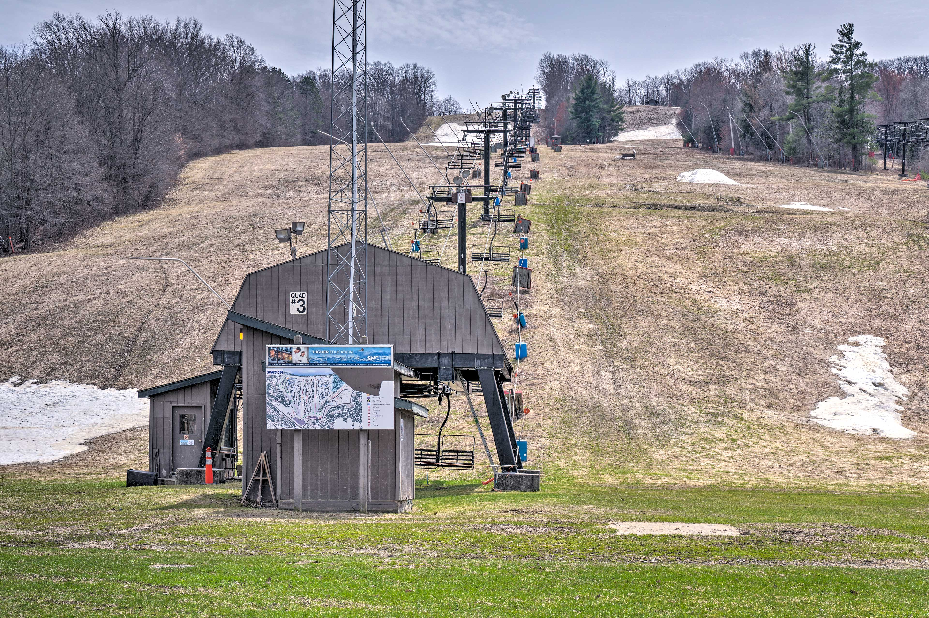 During the winter months, you can spend a day slopeside at Swain Resort!