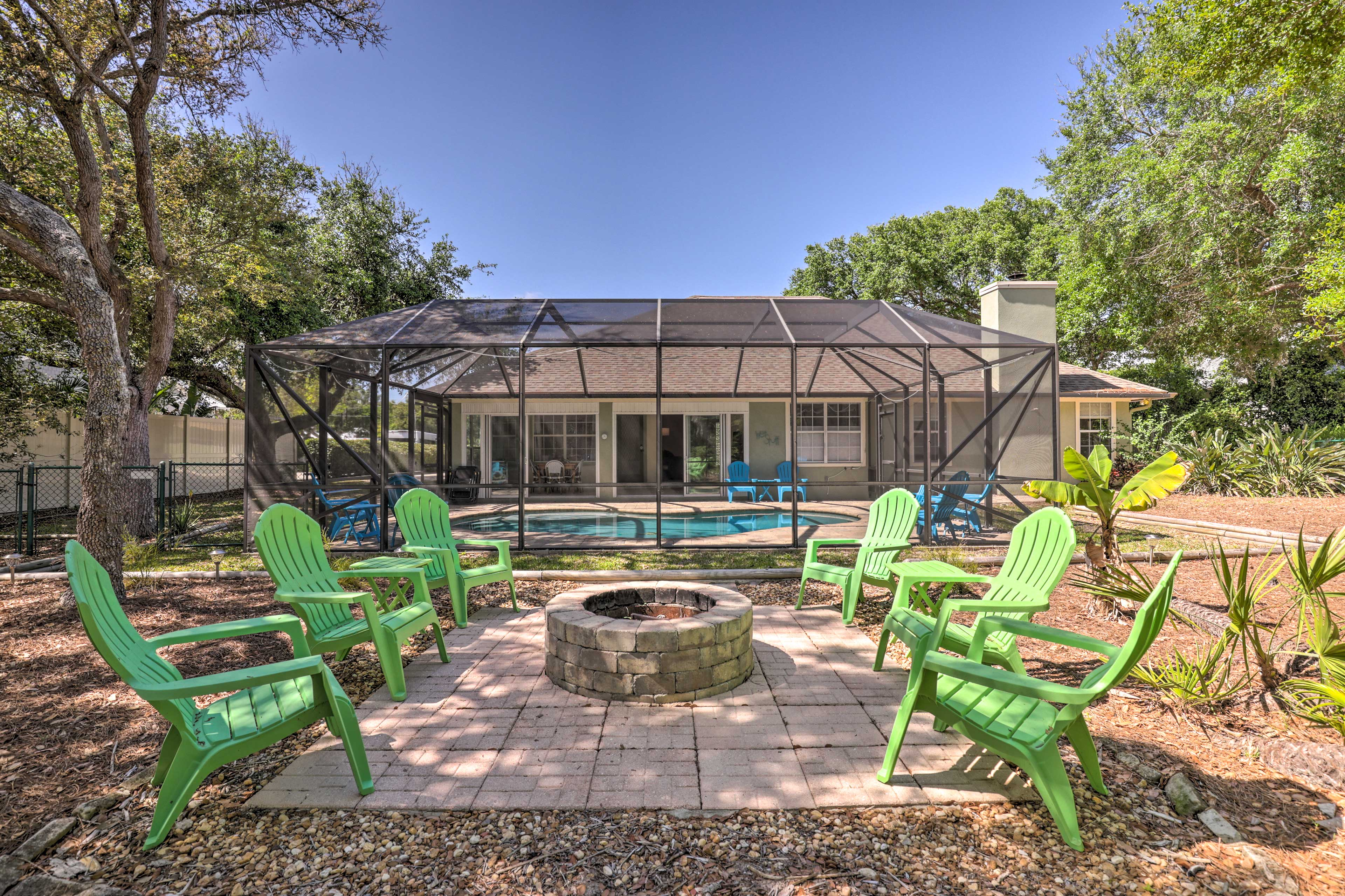This vacation rental home in within walking distance to the beach.