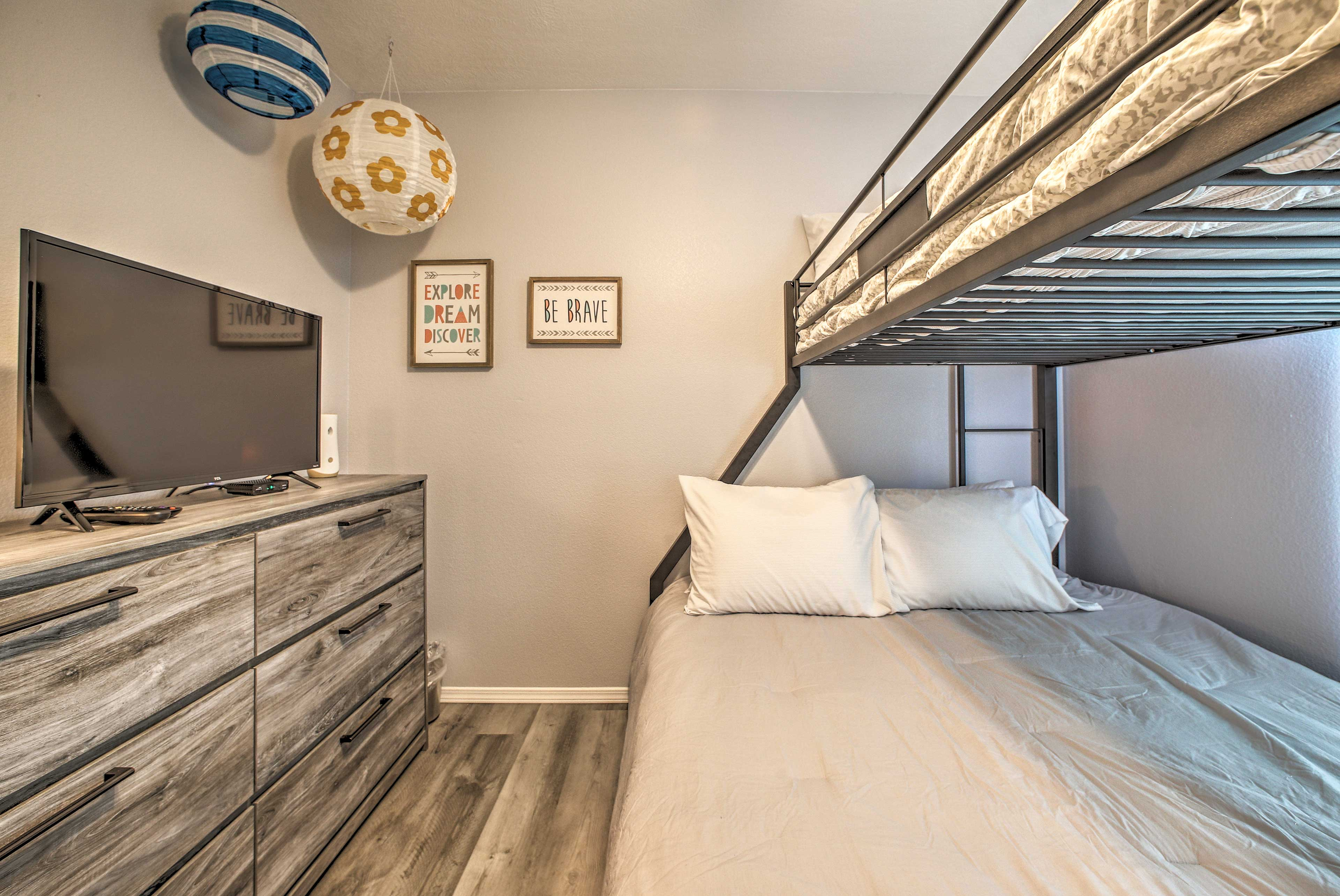 Kids will be quick to claim the top bunk!