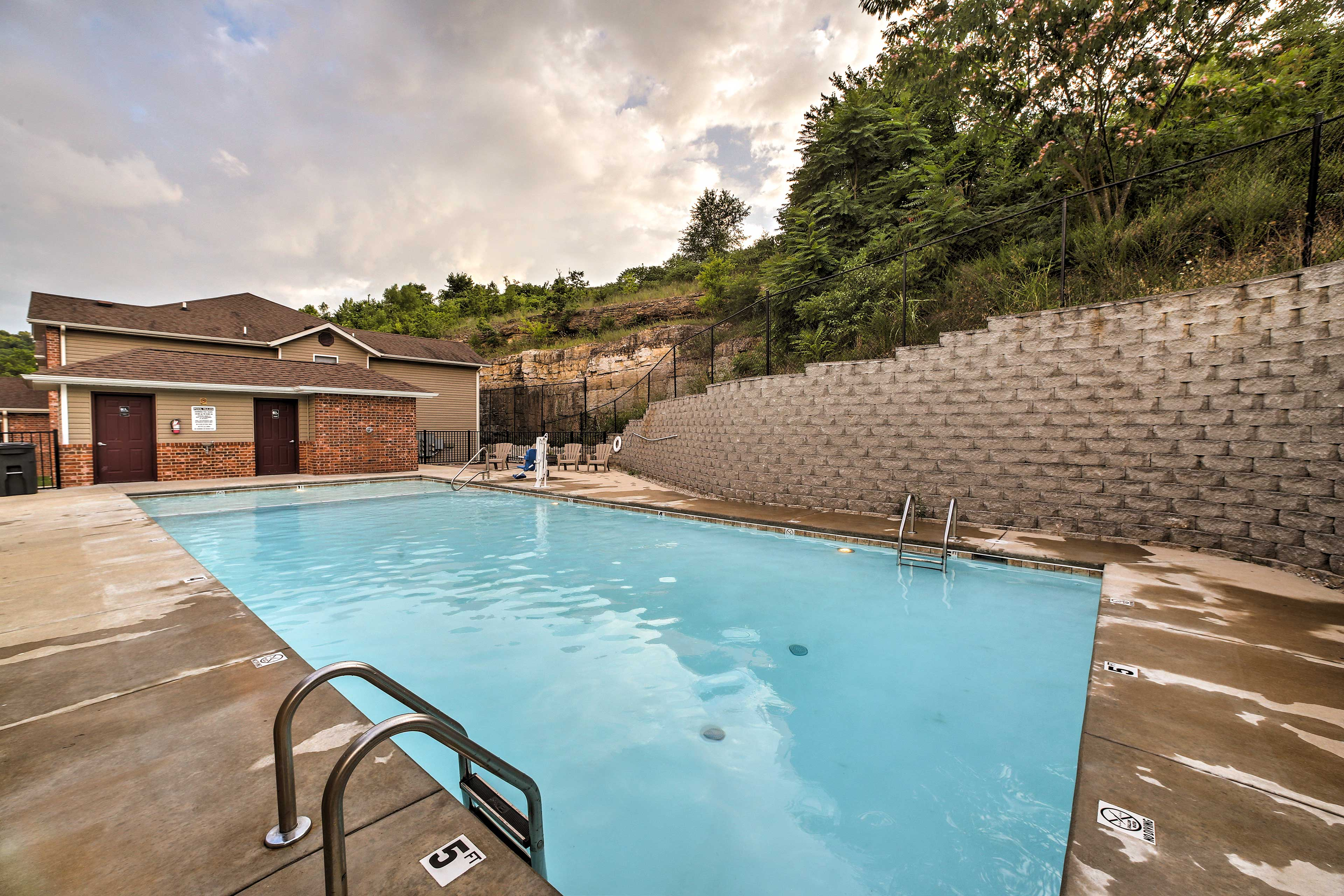 Be sure to check out the community pool during your stay.