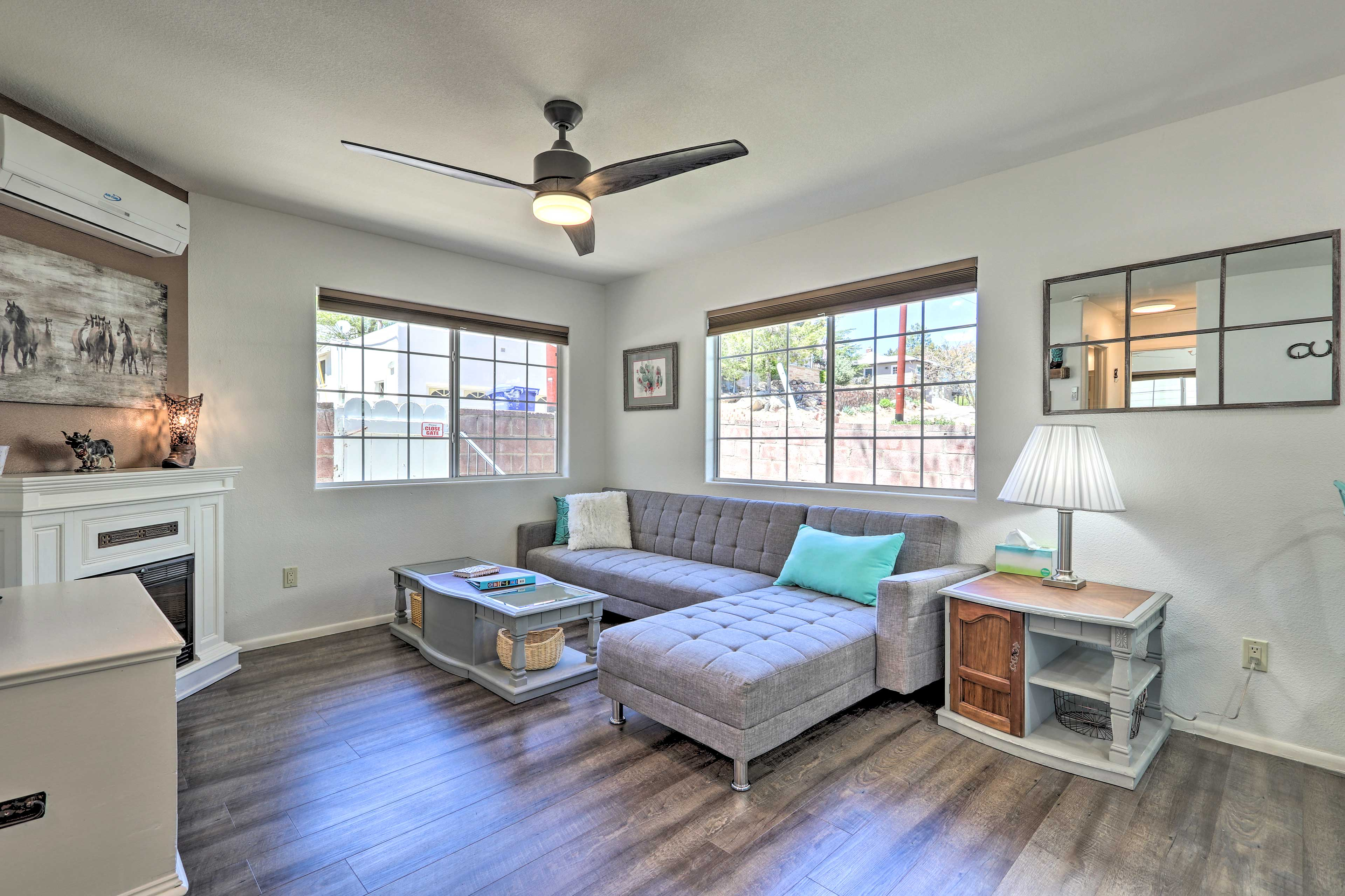 This tastefully furnished home has ample rustic charm!