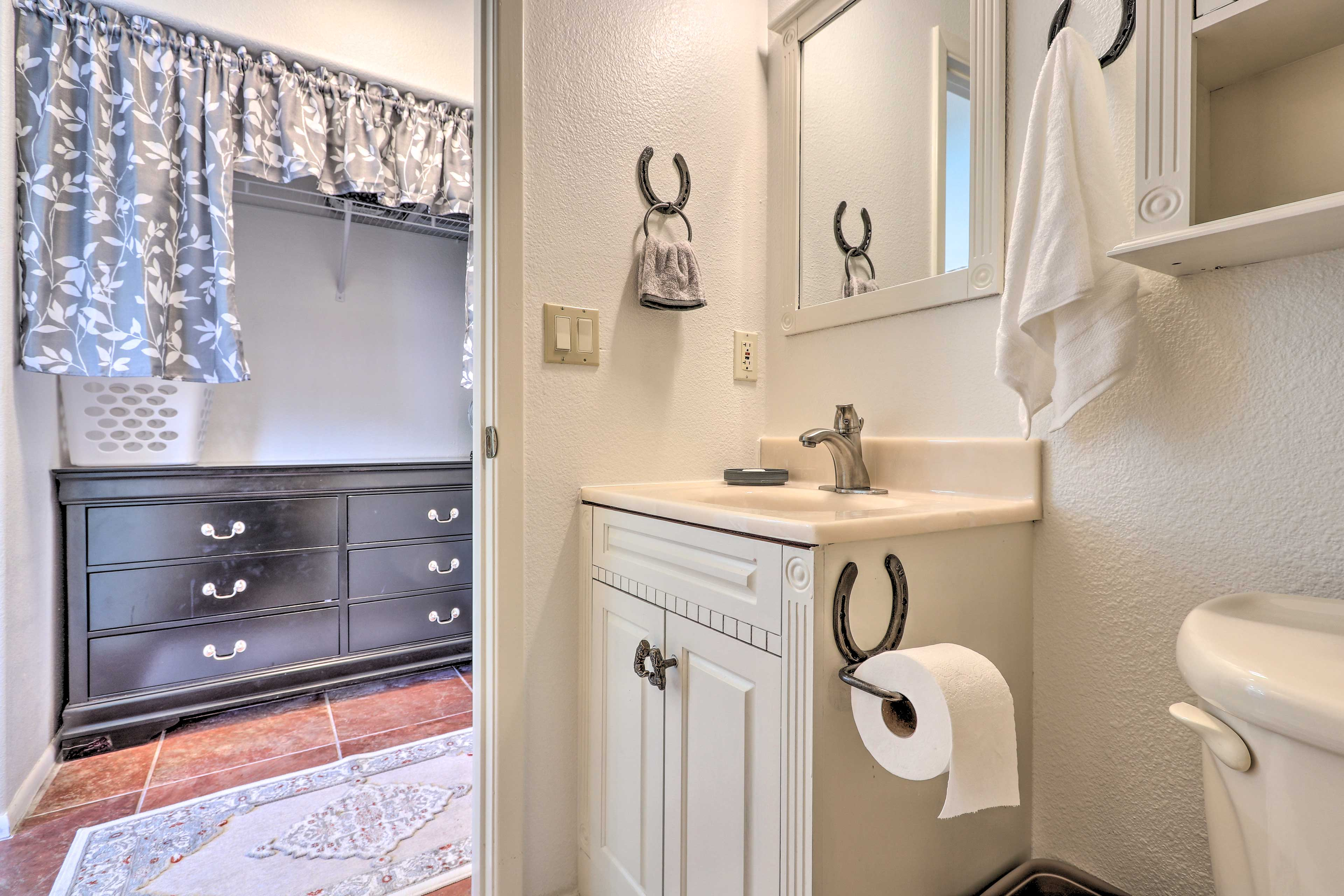 The en-suite bathroom adds an extra layer of privacy.