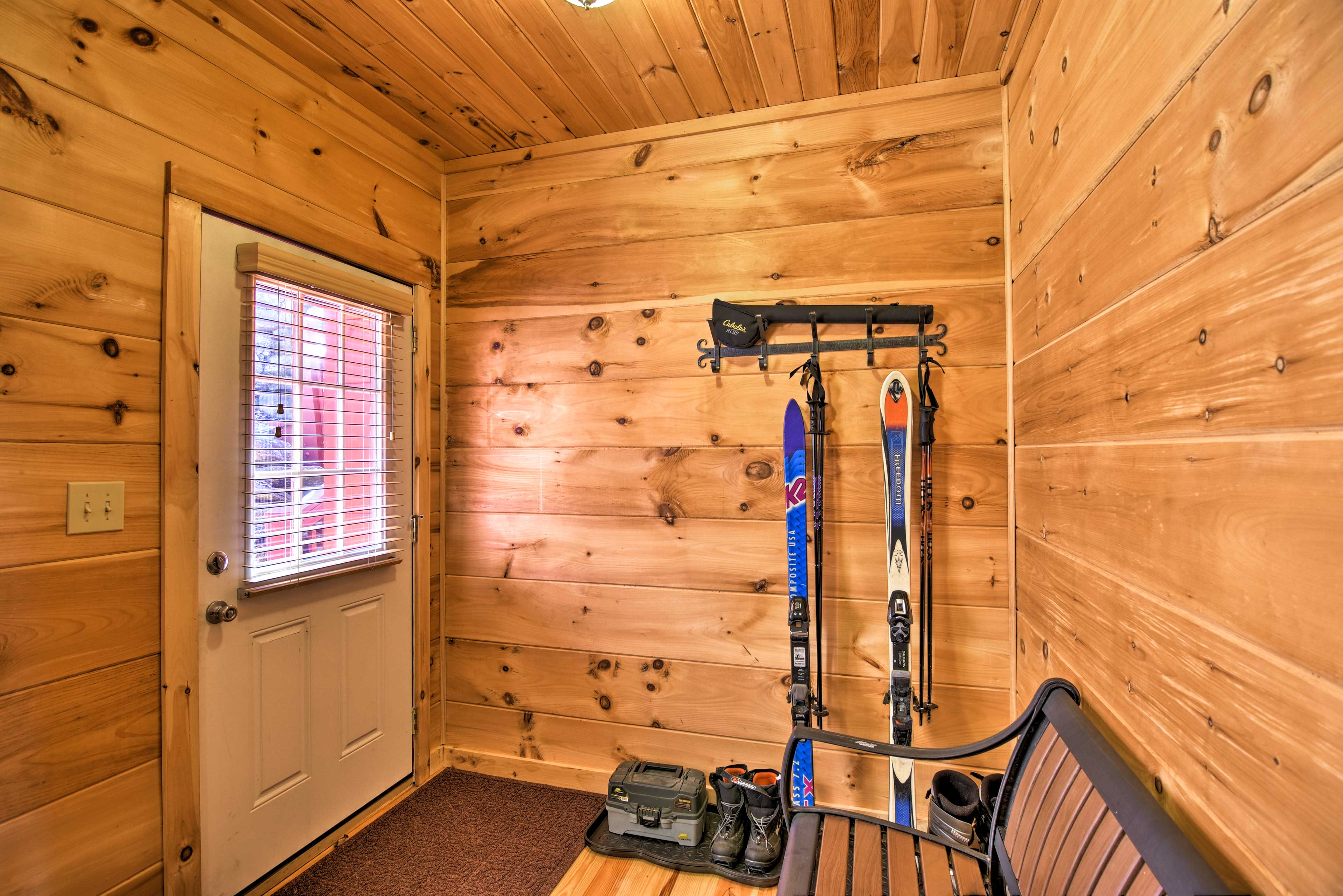 Store your ski gear with ease in the mud room.