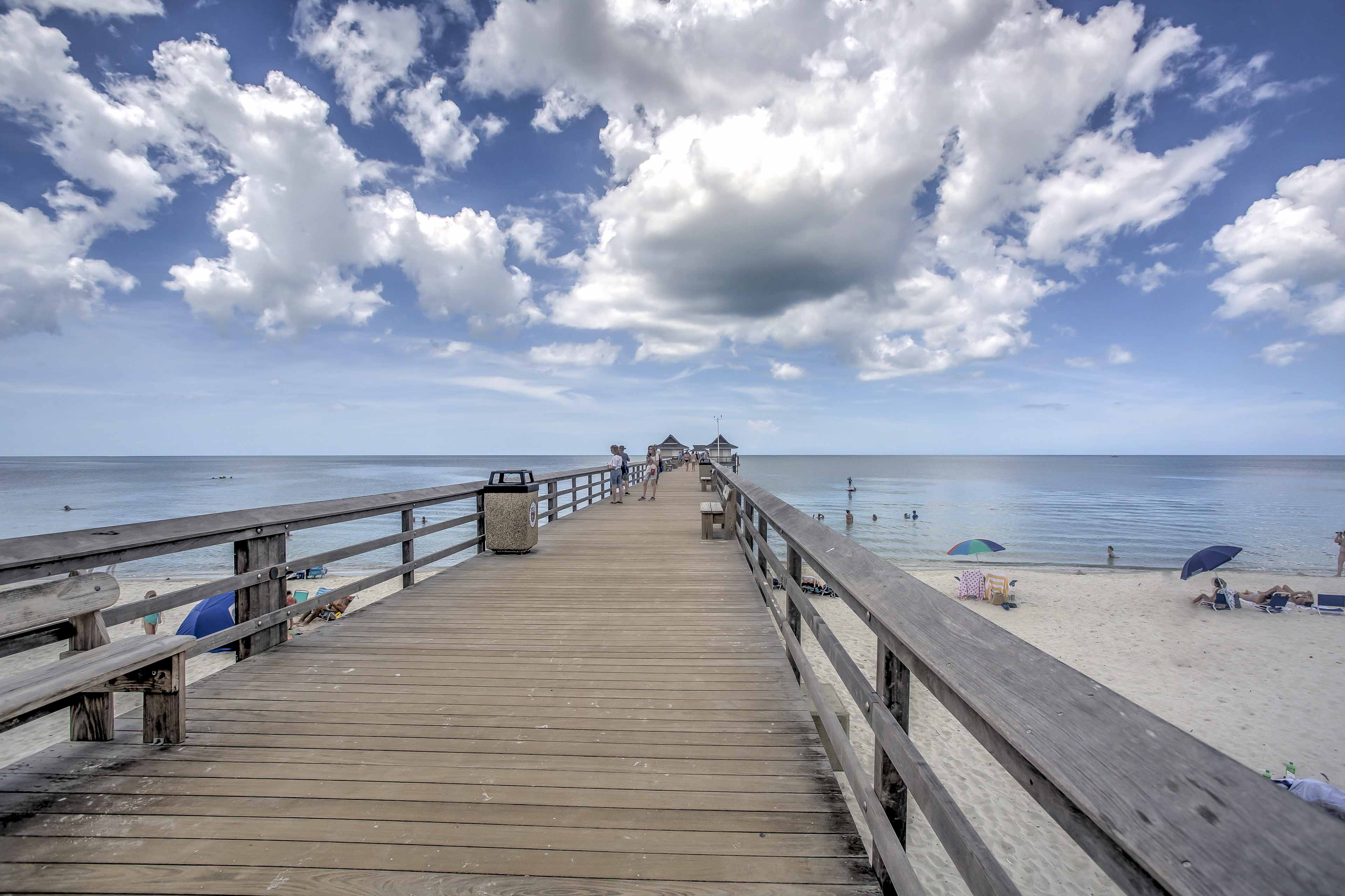Make it to the Naples Pier in mere minutes!