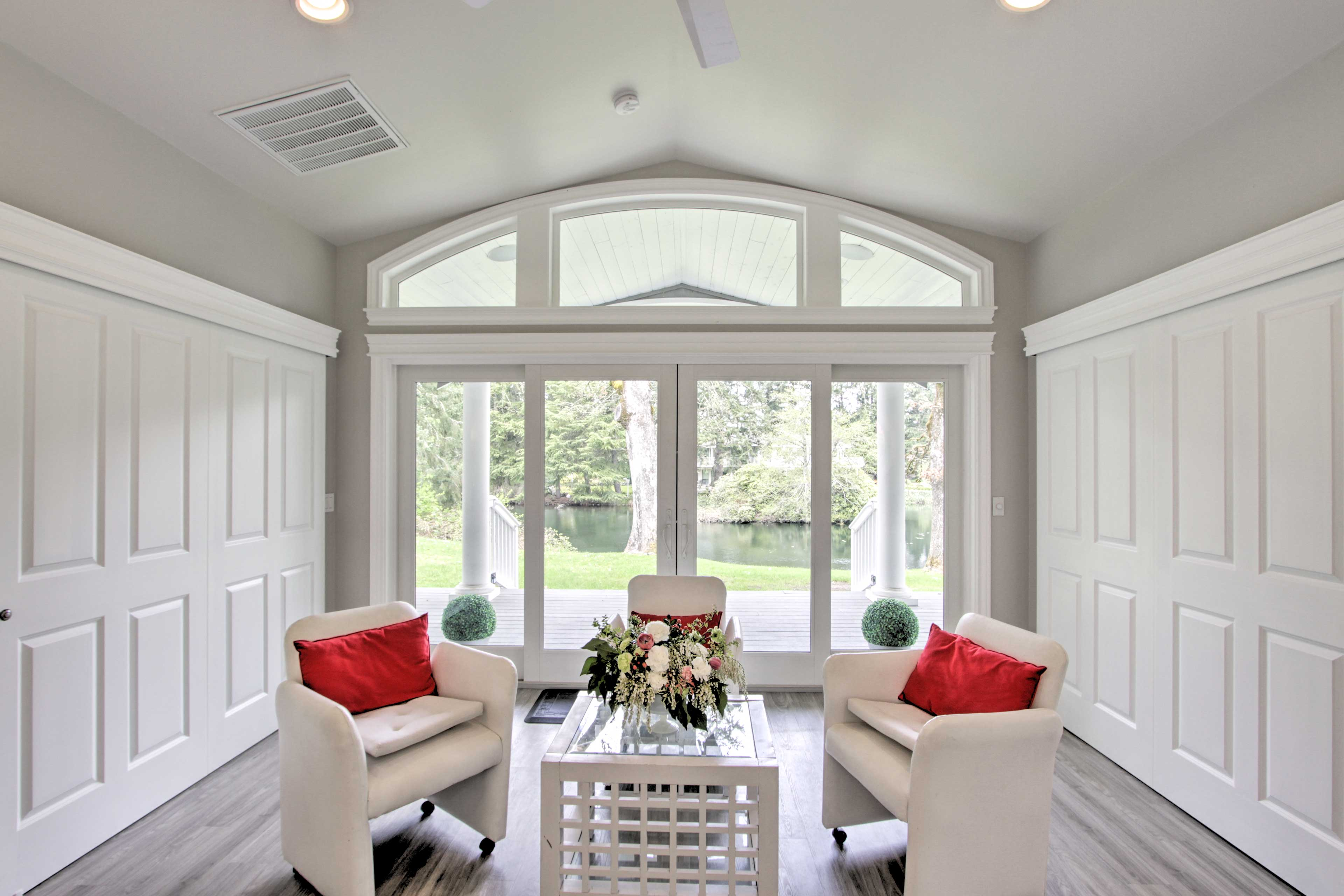 This clean and polished cottage boasts a sophisticated modern interior.