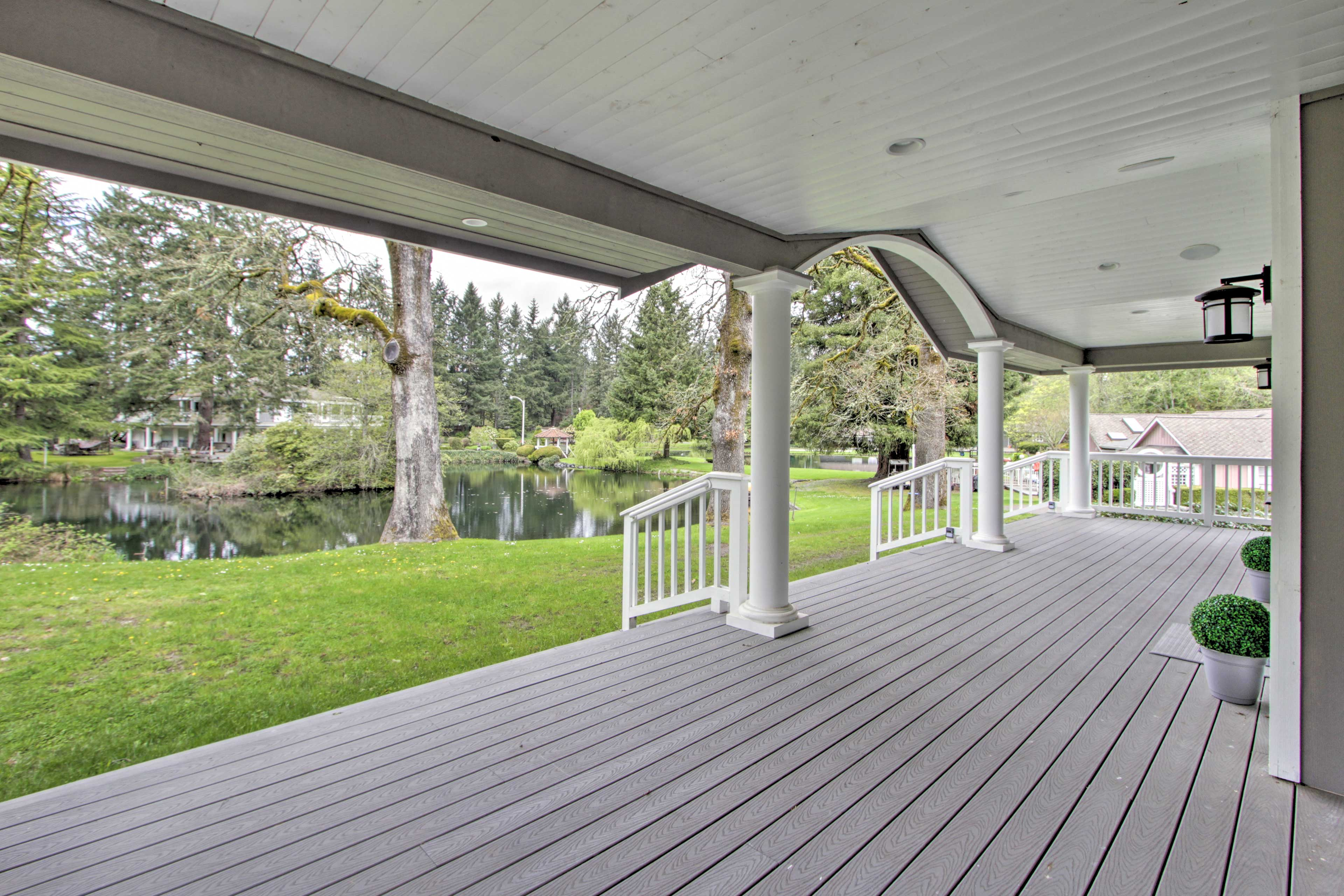Step outside to enjoy this tranquil and lush Washington setting.