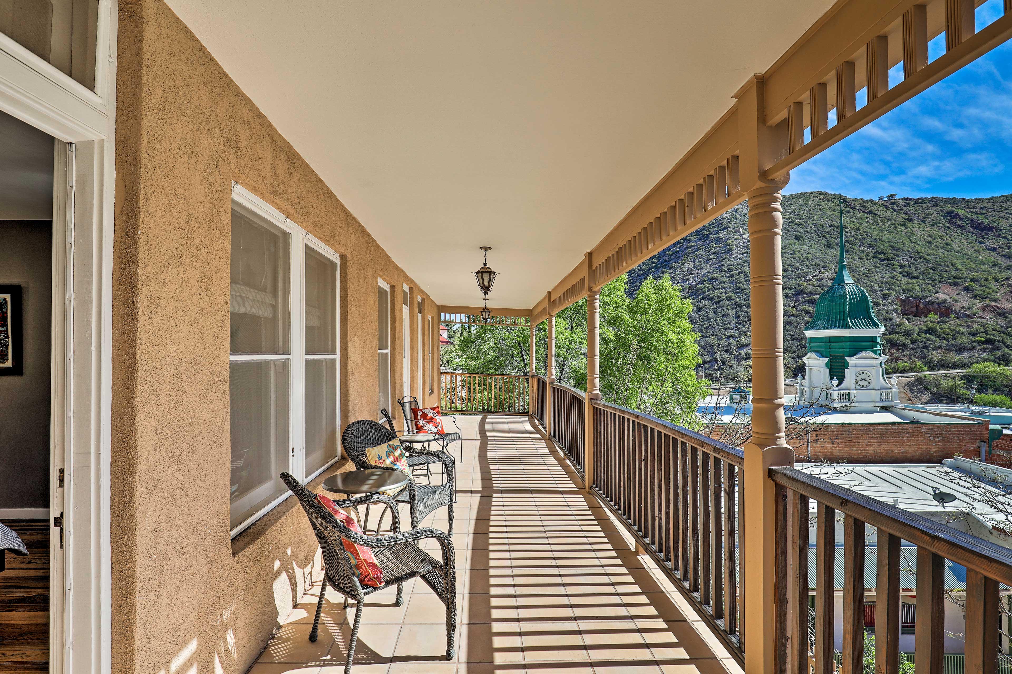 Soak up the sun on the balcony.