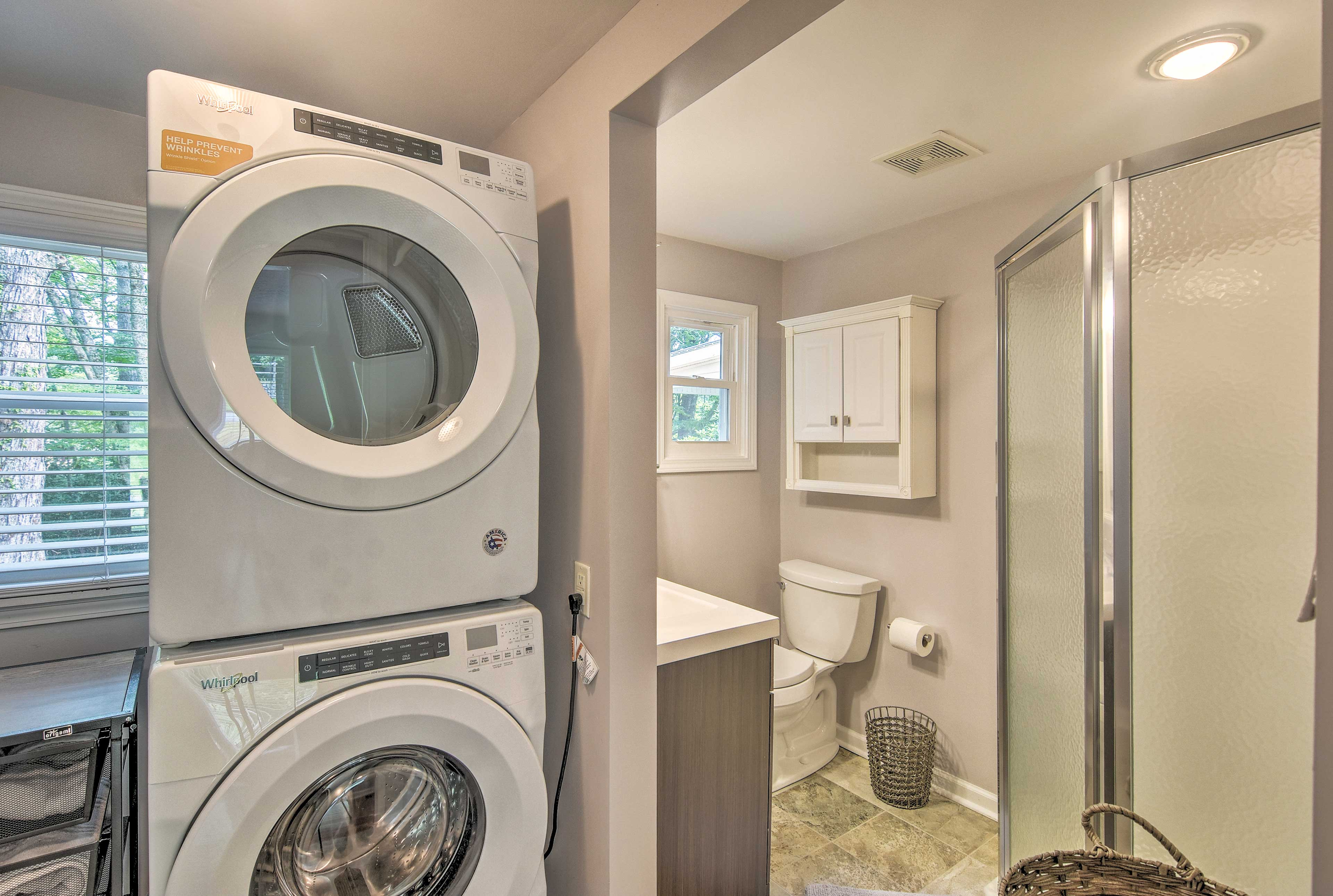 Pack light and utilize the in-house laundry machines.