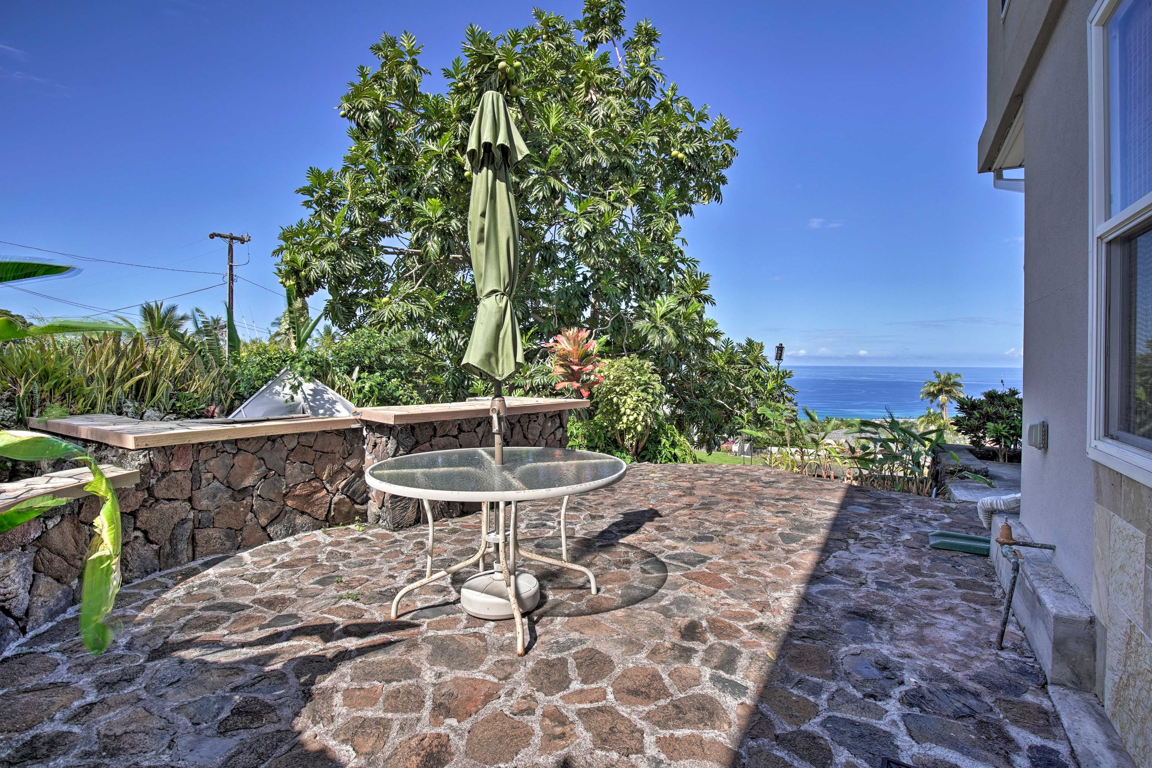 This home has various outdoor spaces designed for soaking up the Hawaiian sun.
