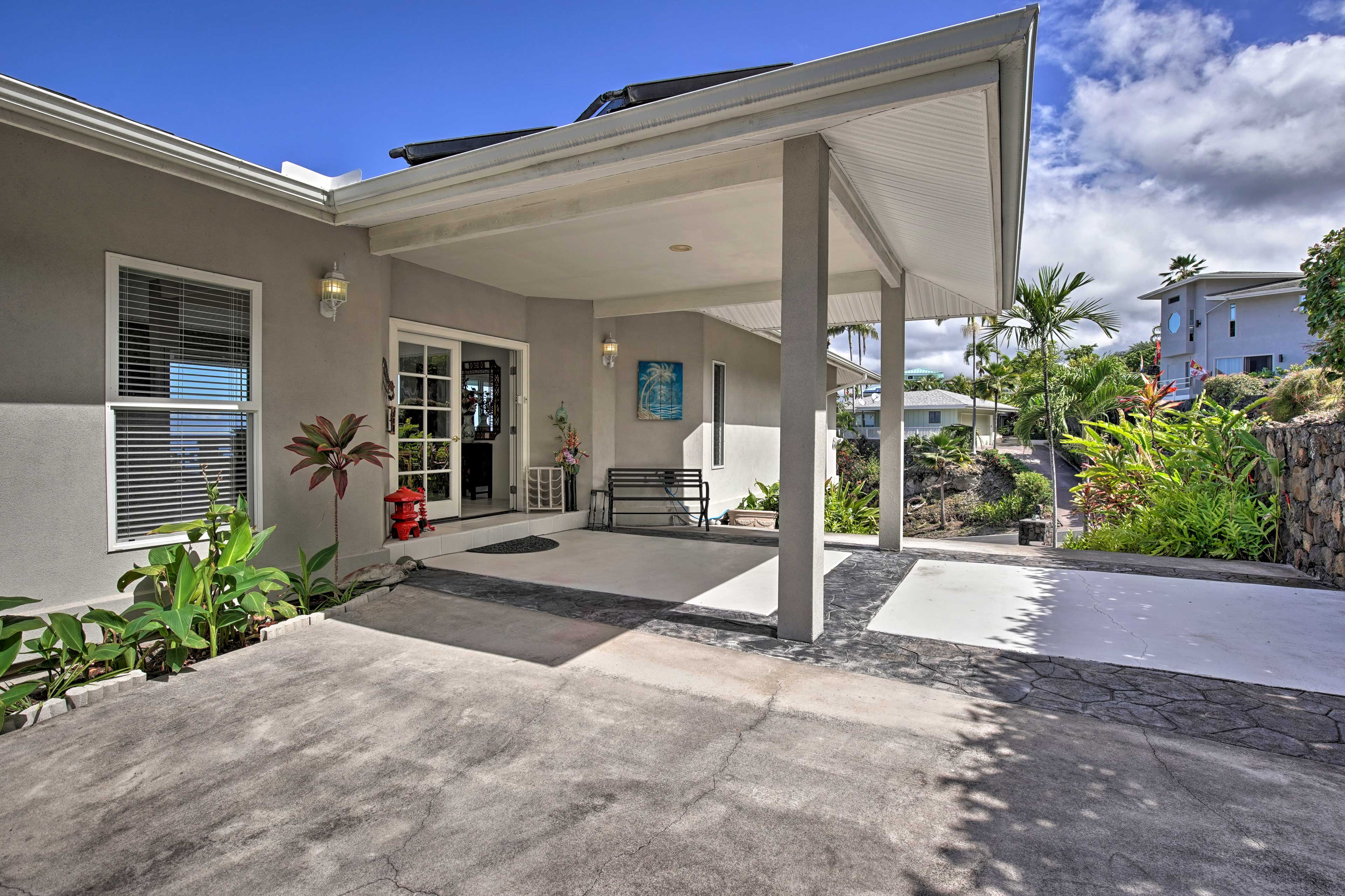 This home has parking for up to 5 vehicles in the garage and driveway.