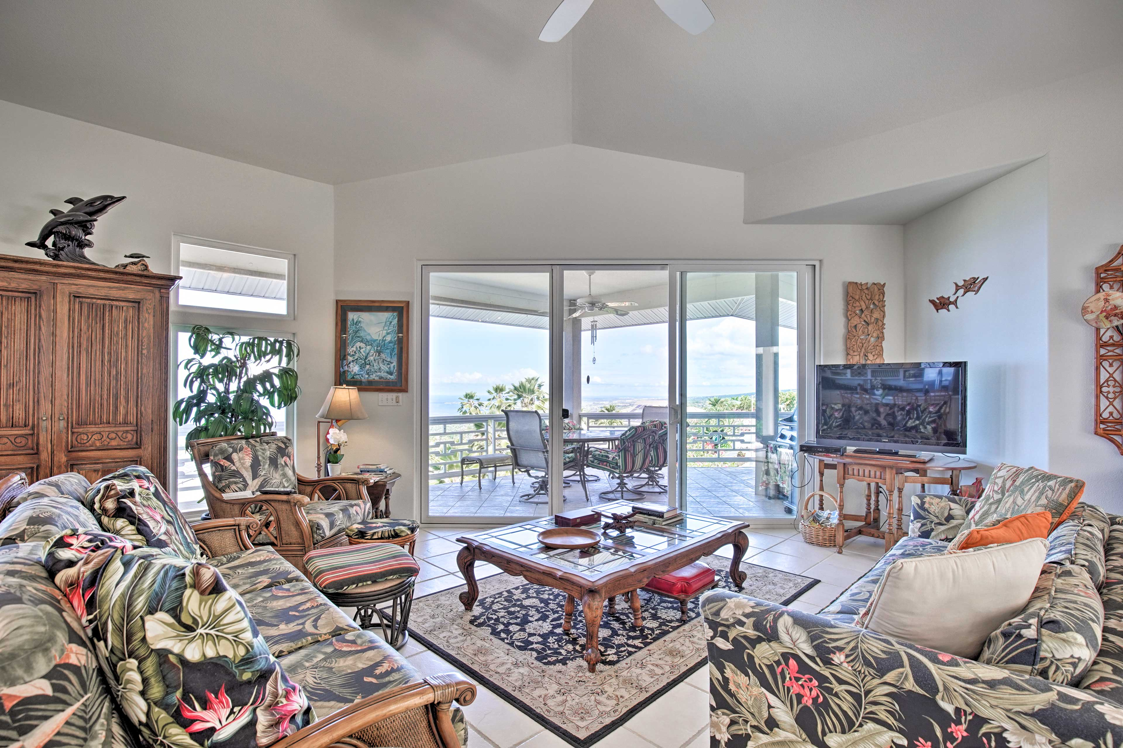 Stunning water views can be seen all throughout the home!
