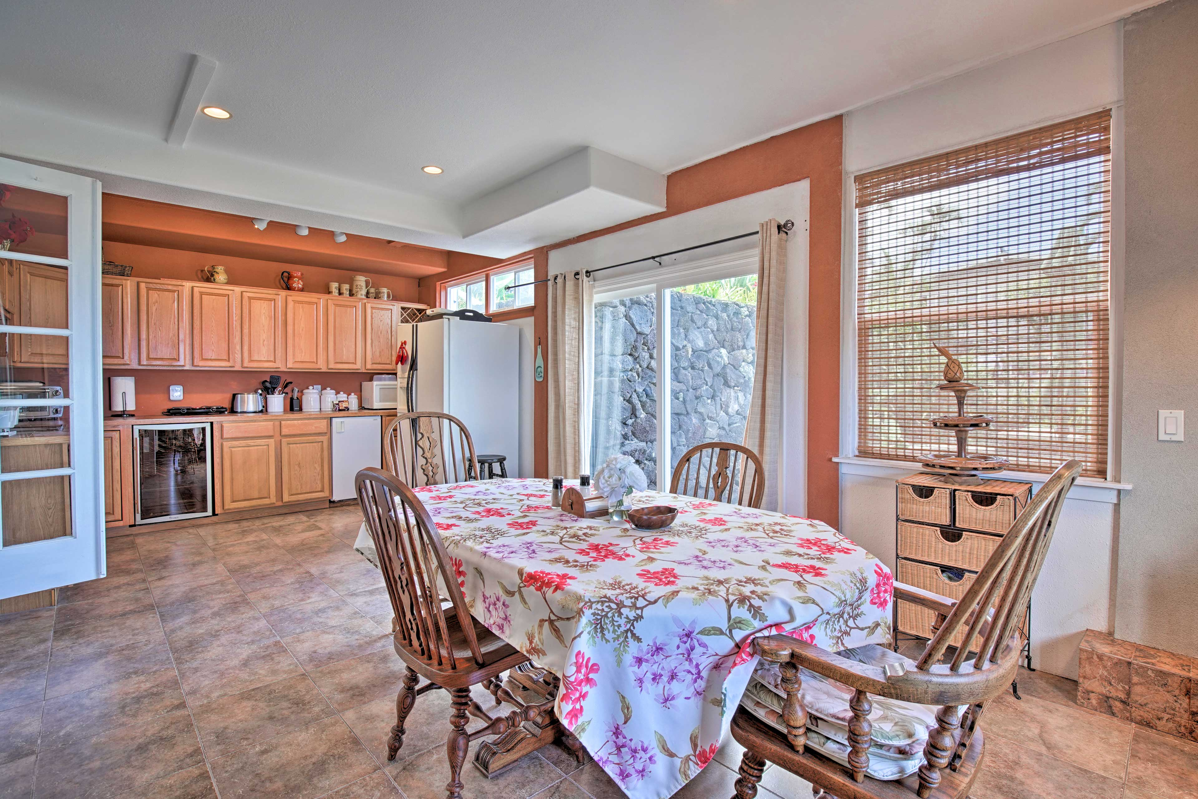 The 'man cave' even boasts its own kitchen and dining space.