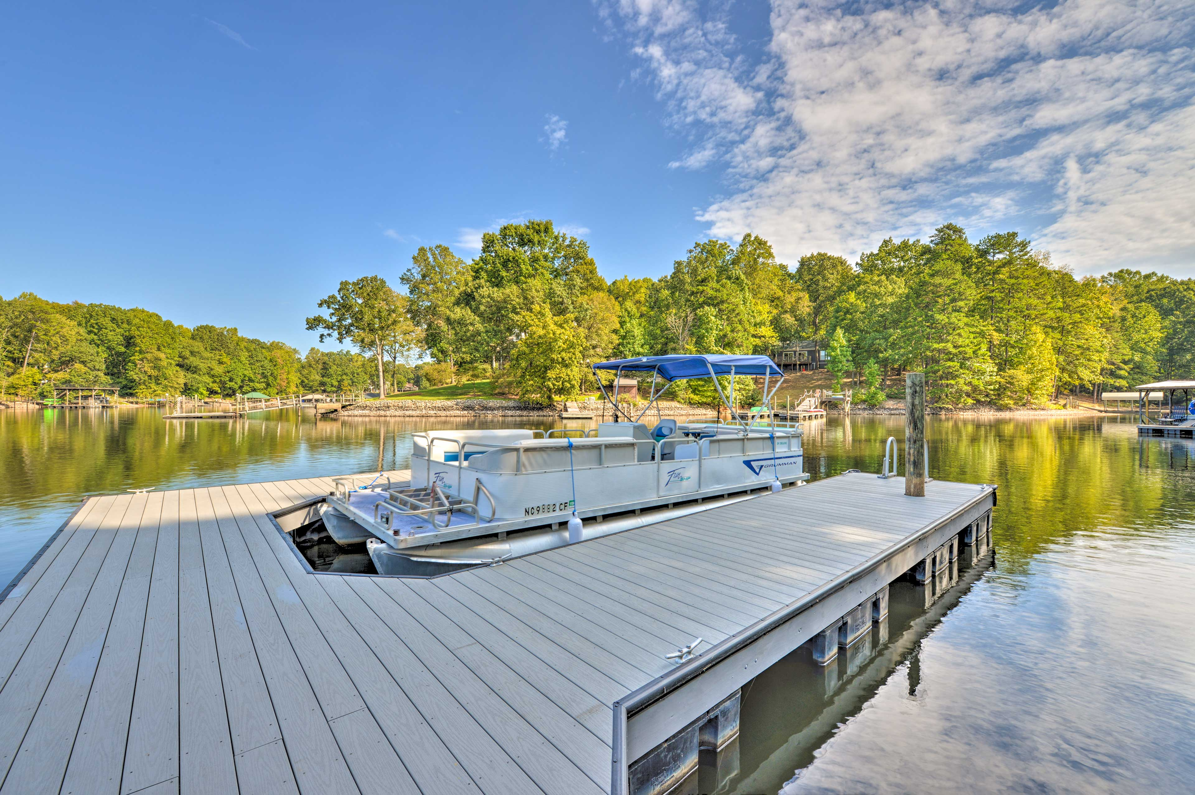 Let your worries float away on Lake Norman when you stay at this brand new home.
