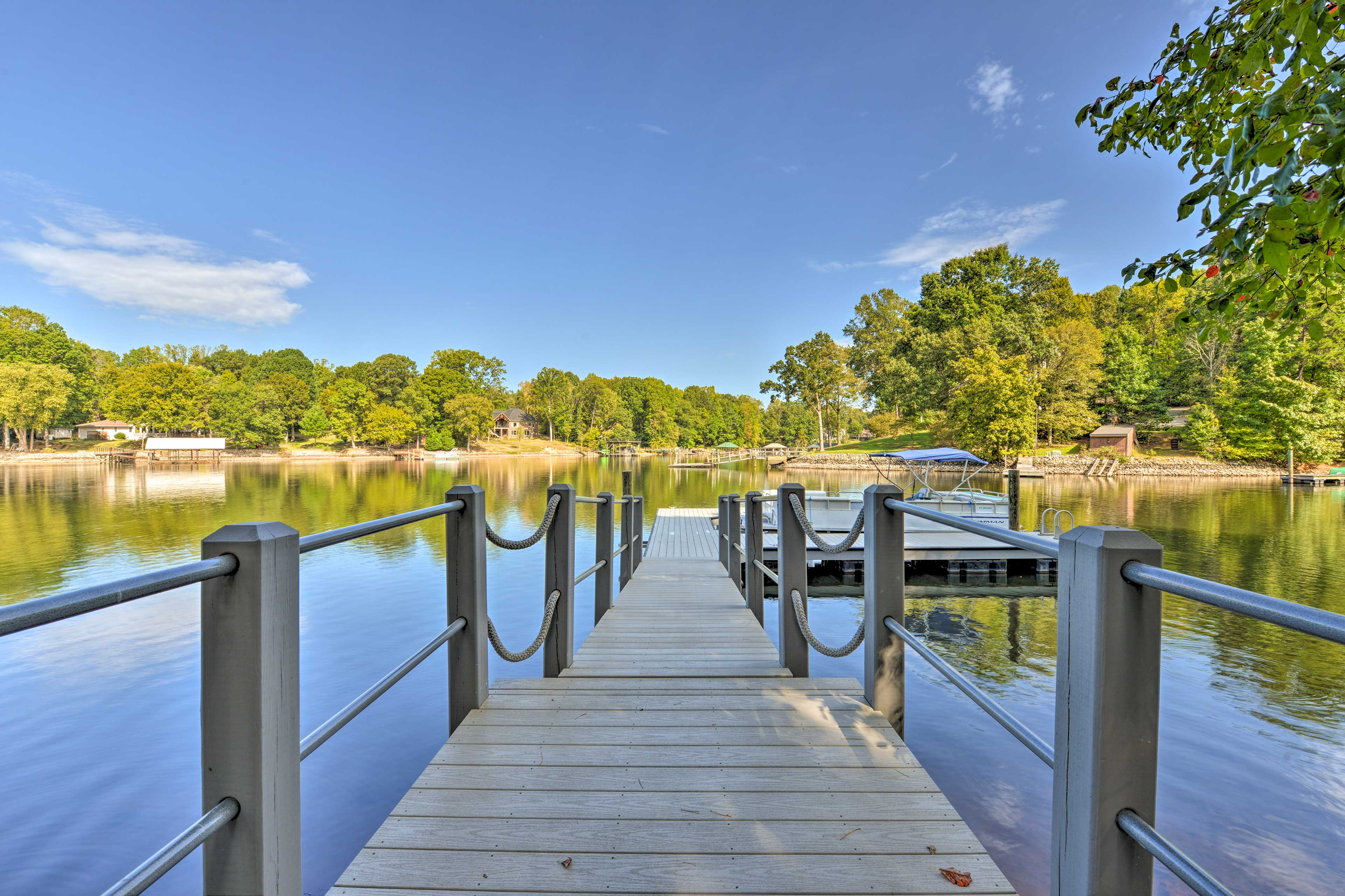 Just steps from the home you'll the stunning lakefront.
