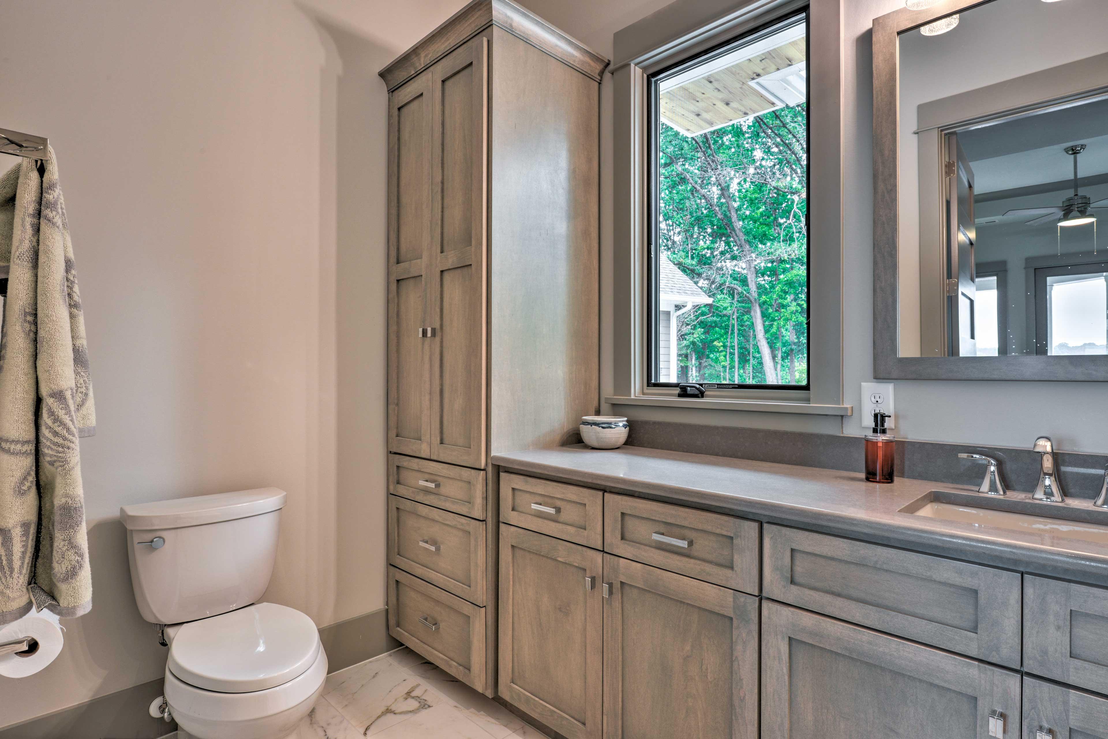 The second bedroom also has en-suite bath.