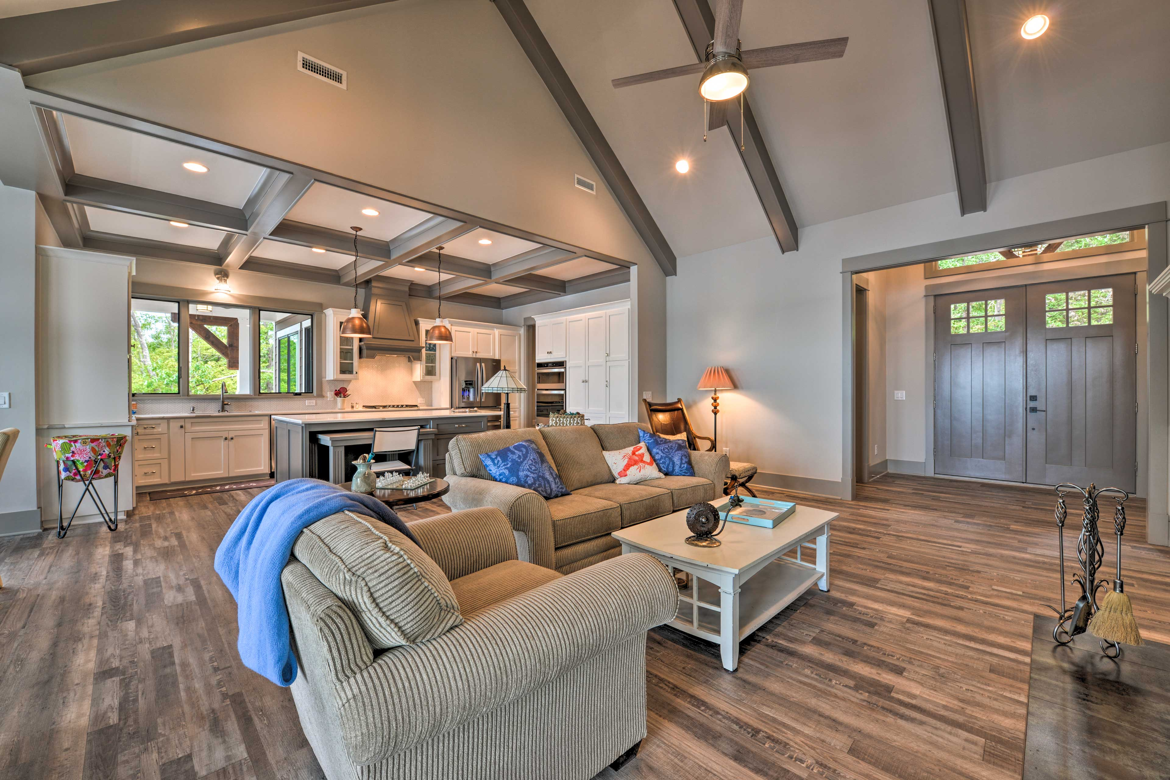 The open floor plan makes it easy to spend time together.