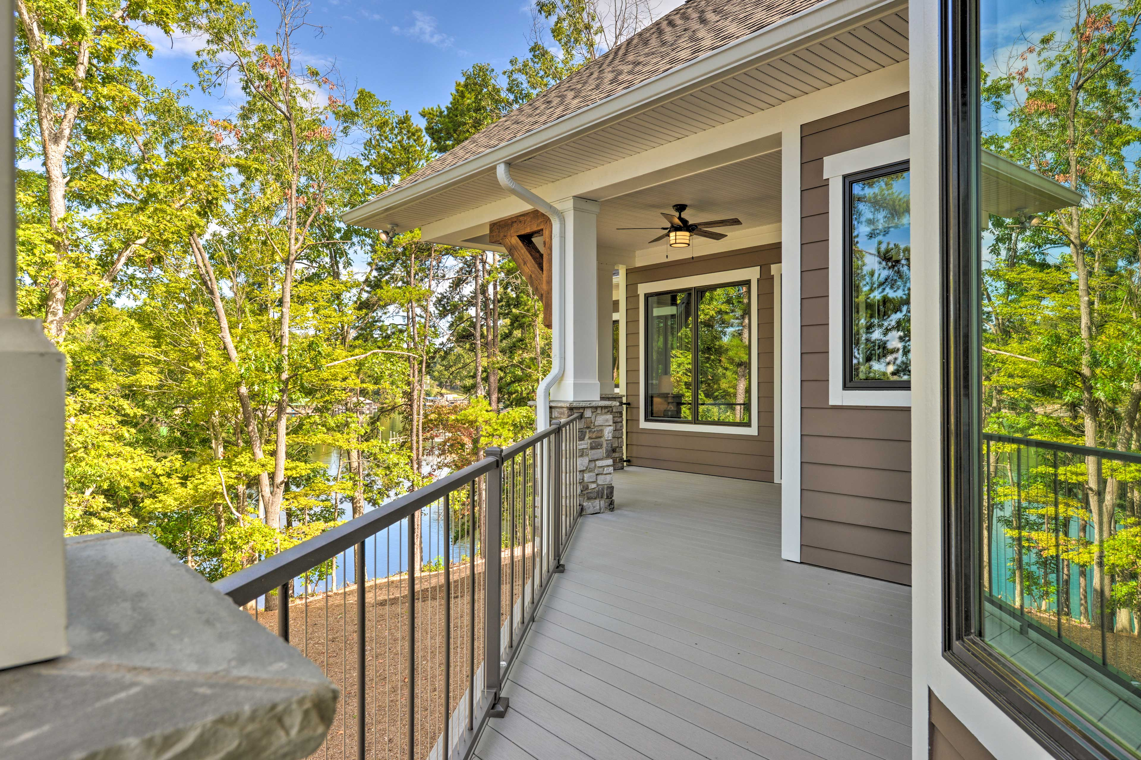 Gorgeous views can be seen from every angle of the deck.