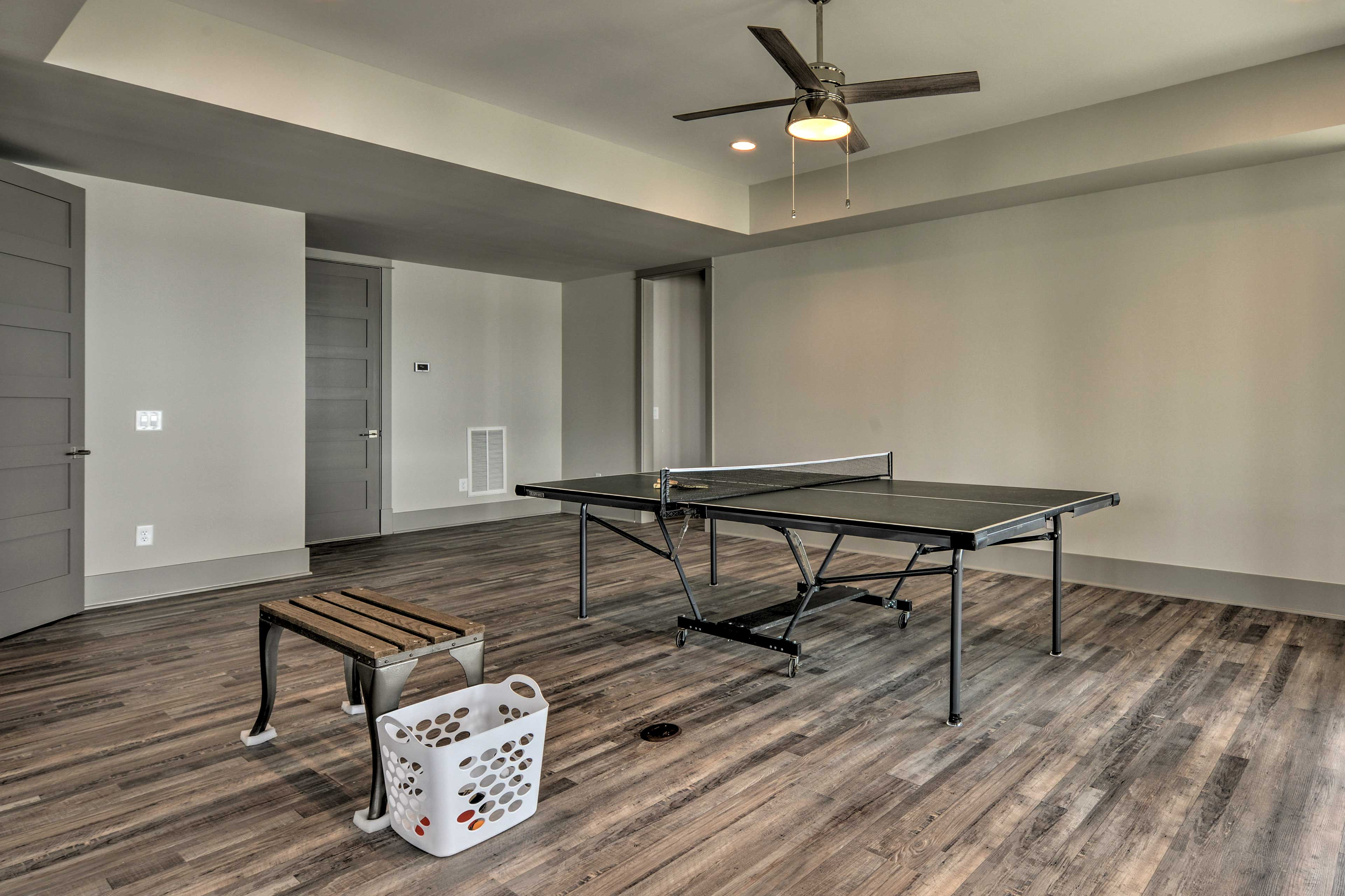 Kick-off your trip with a game of table tennis!