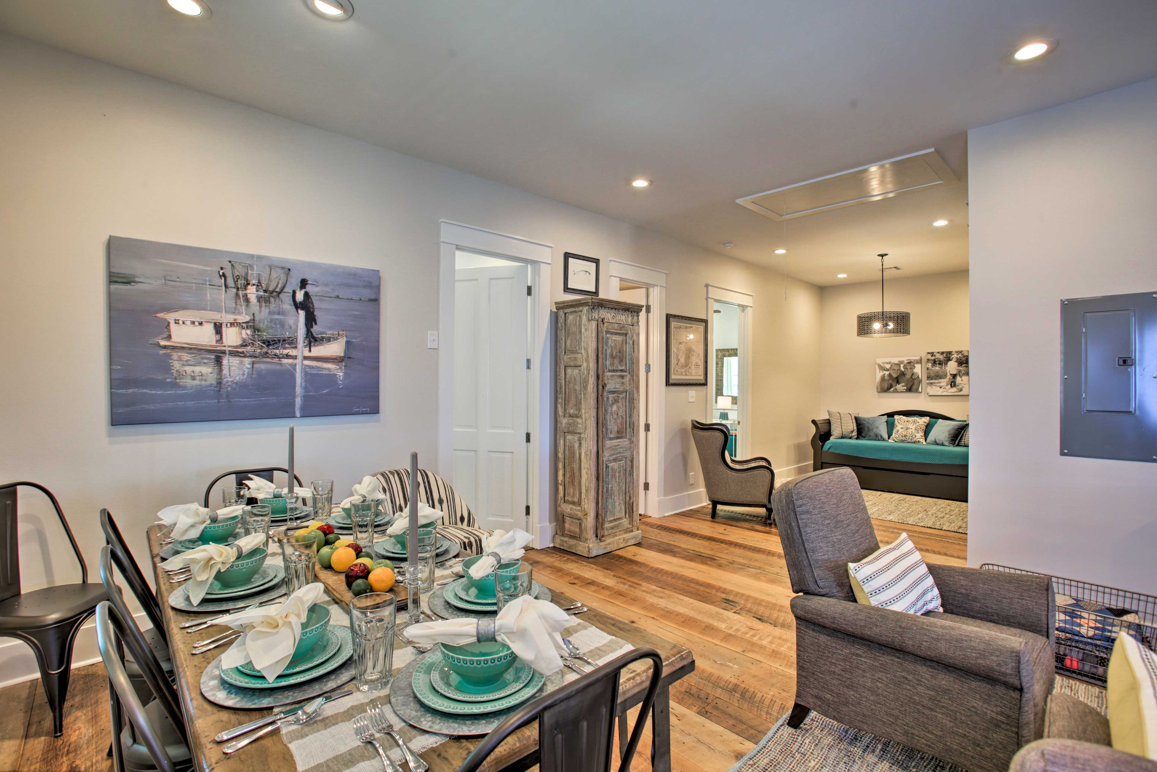 Savor your culinary creations at the 8-person dining table!